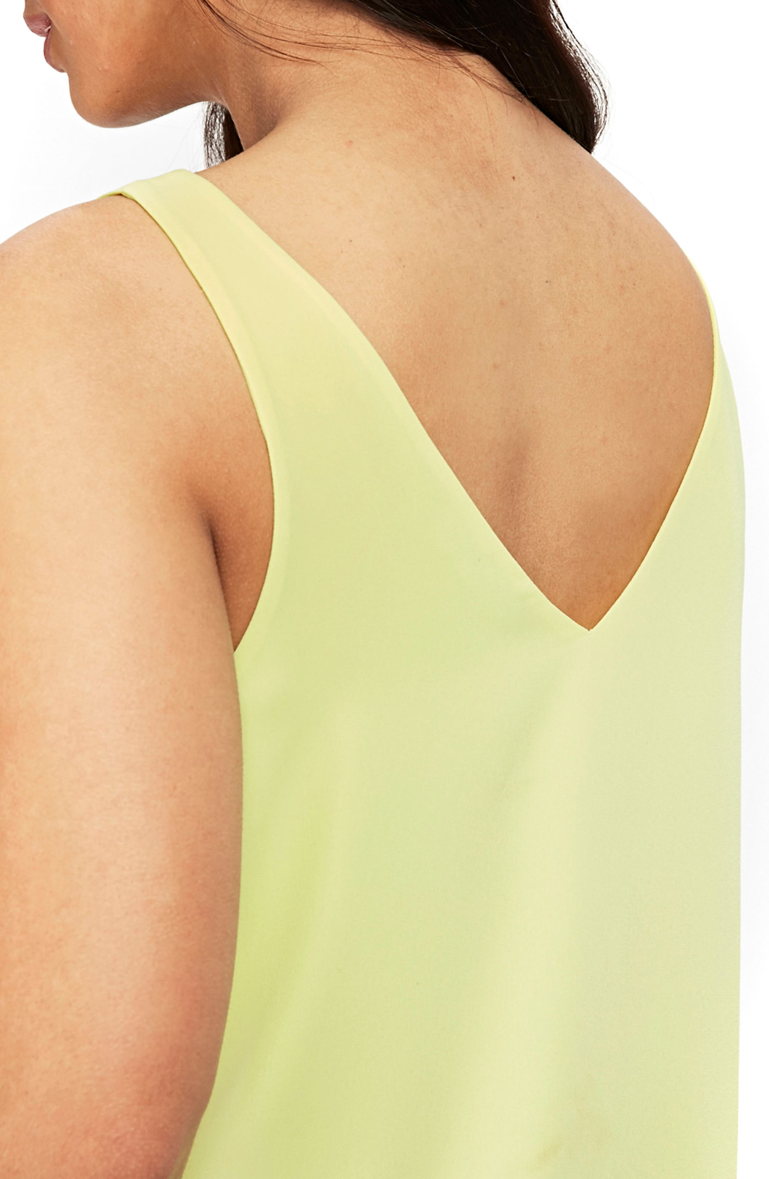 V-neck Camisole Top,                             Alternate thumbnail 3, color,                             LIME