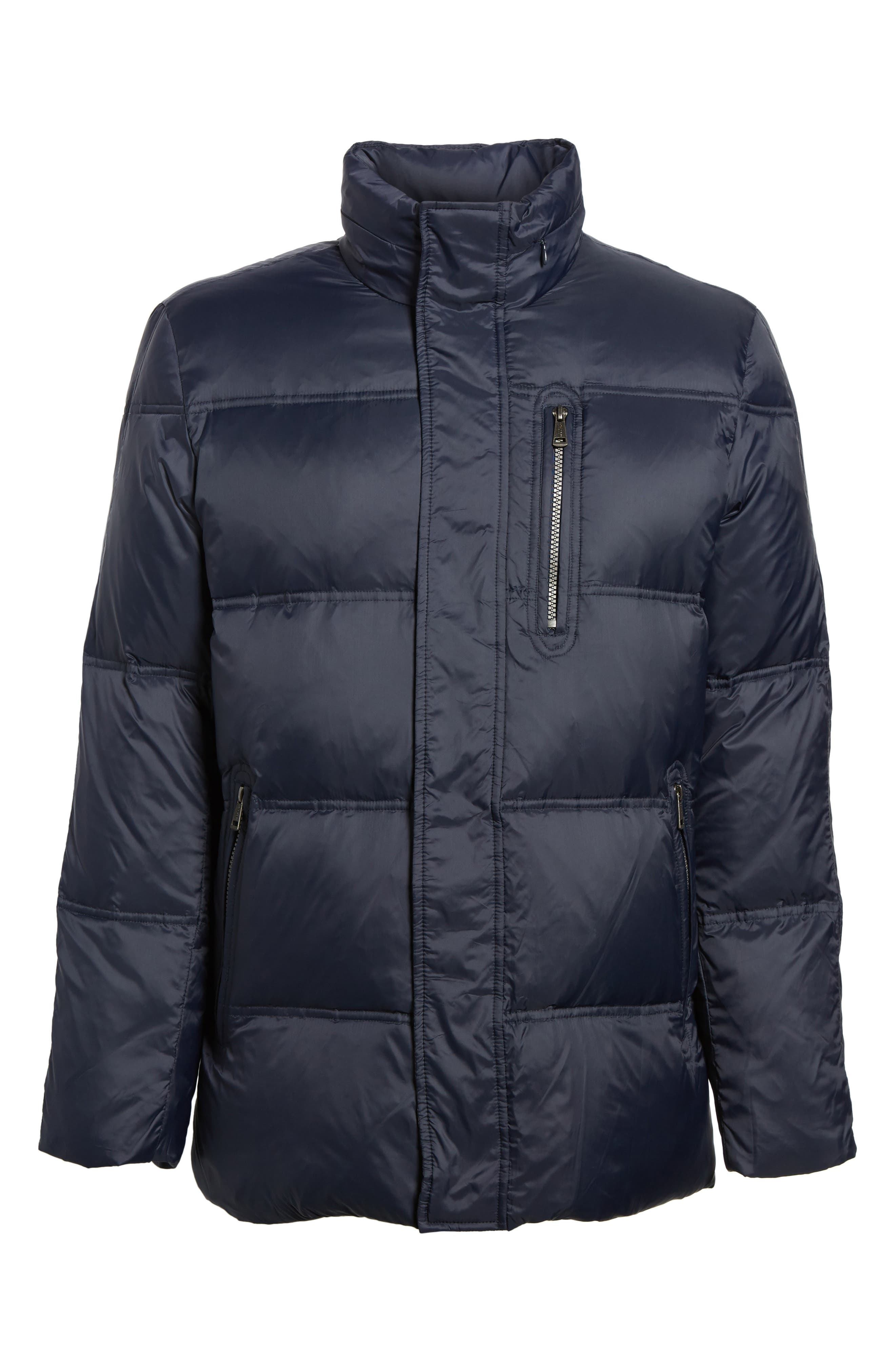 Quilted Jacket with Convertible Neck Pillow,                             Alternate thumbnail 5, color,                             NAVY