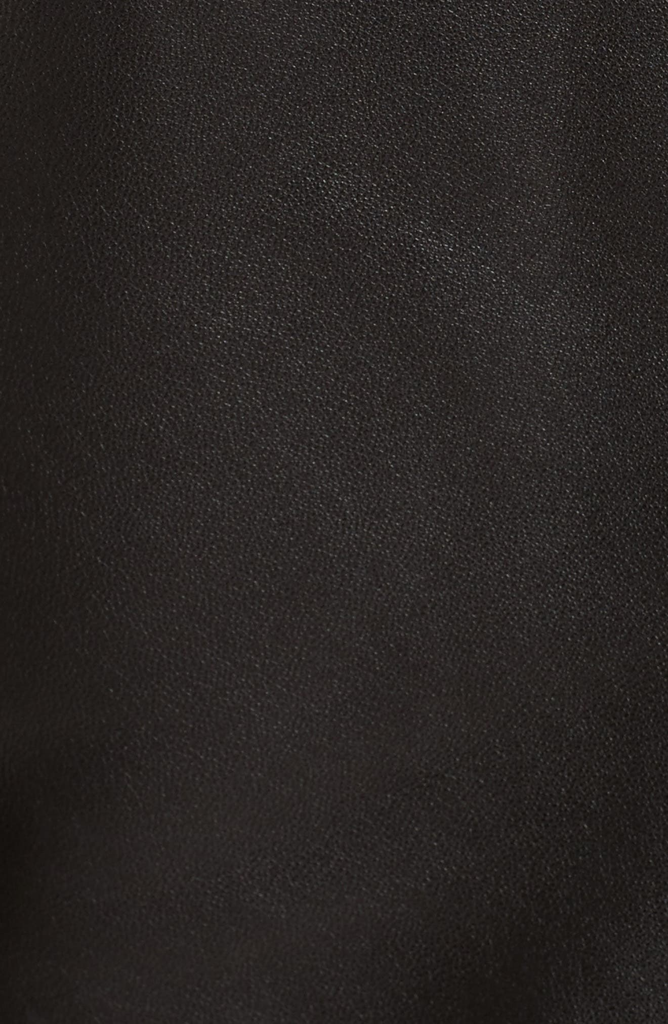 'Han' Lambskin Leather Moto Jacket,                             Alternate thumbnail 5, color,                             BLACK/ BLACK