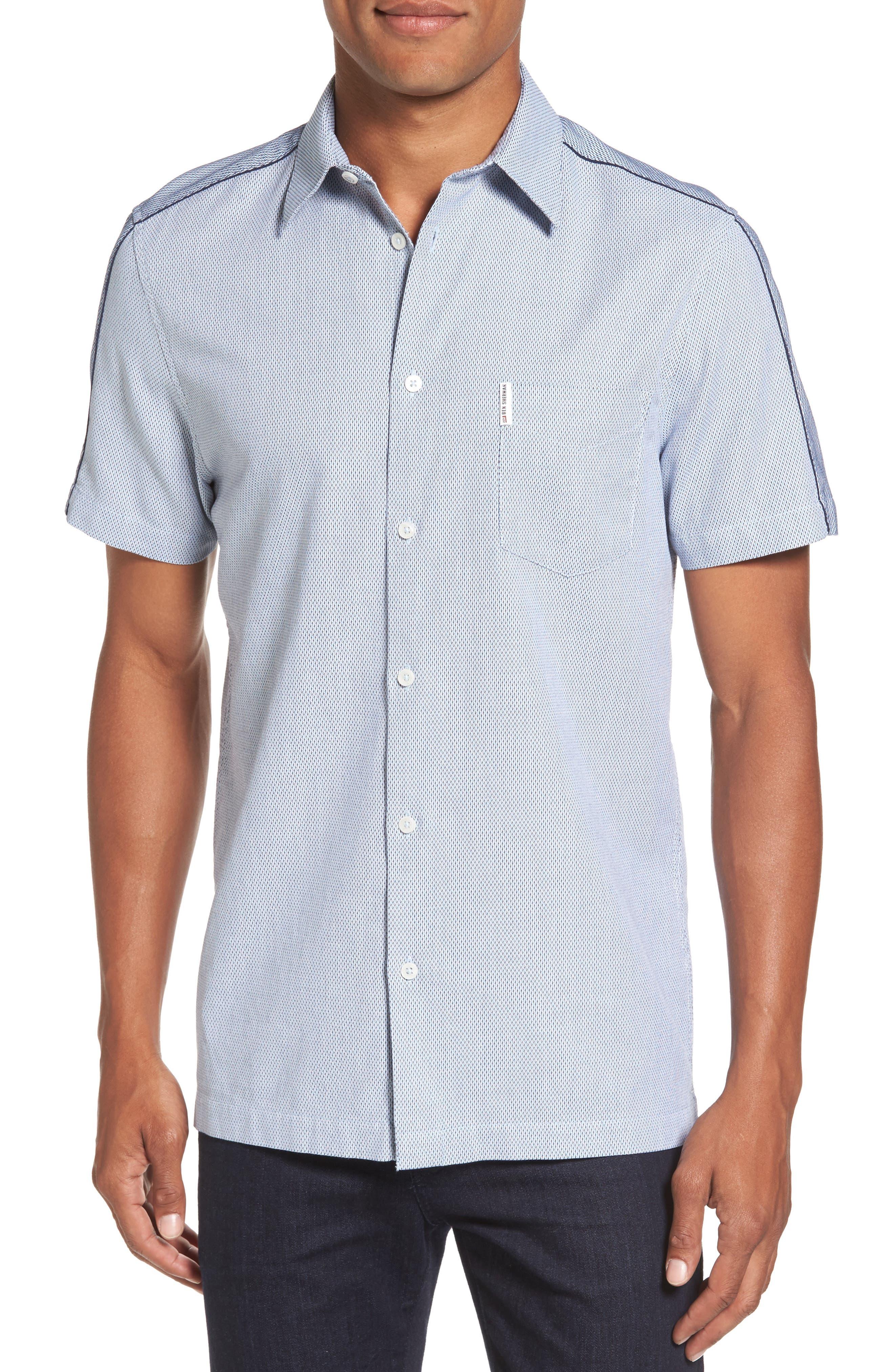 Dobby Short Sleeve Shirt,                         Main,                         color, 450