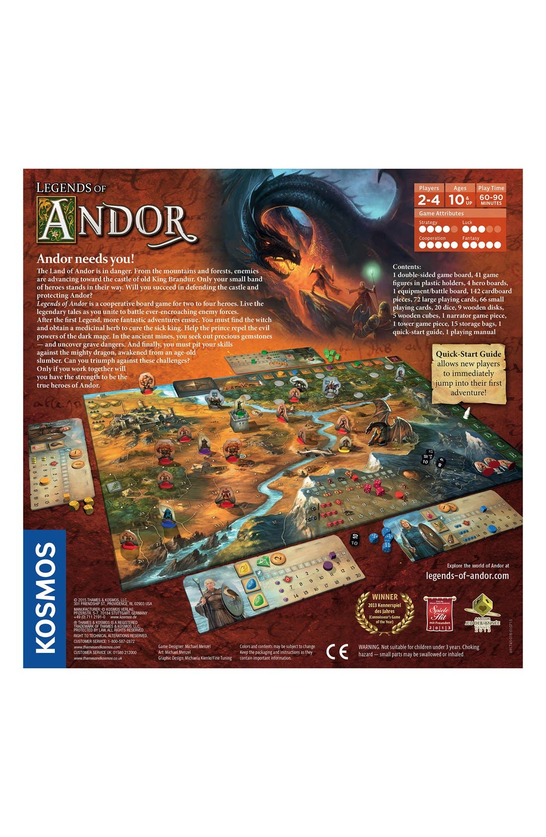 'Legends of Andor' Base Board Game,                             Alternate thumbnail 2, color,                             200