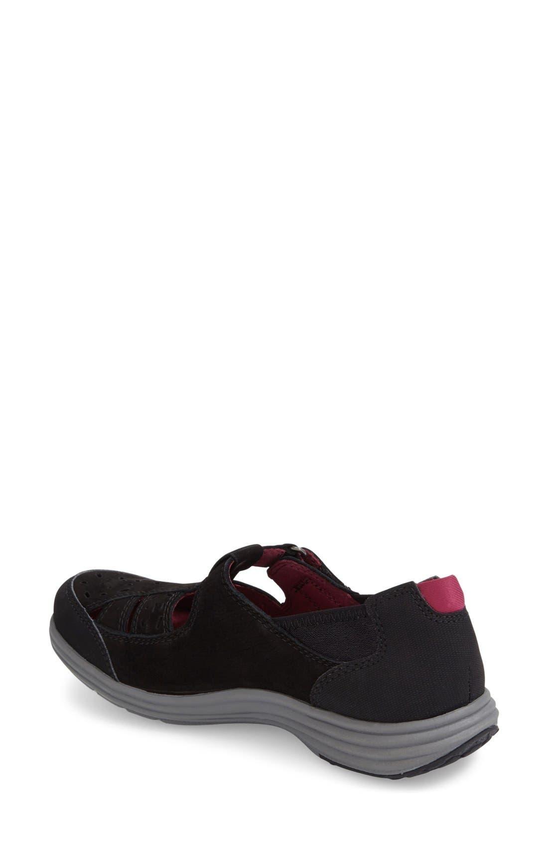 'Barbara' Sneaker,                             Alternate thumbnail 6, color,                             BLACK LEATHER