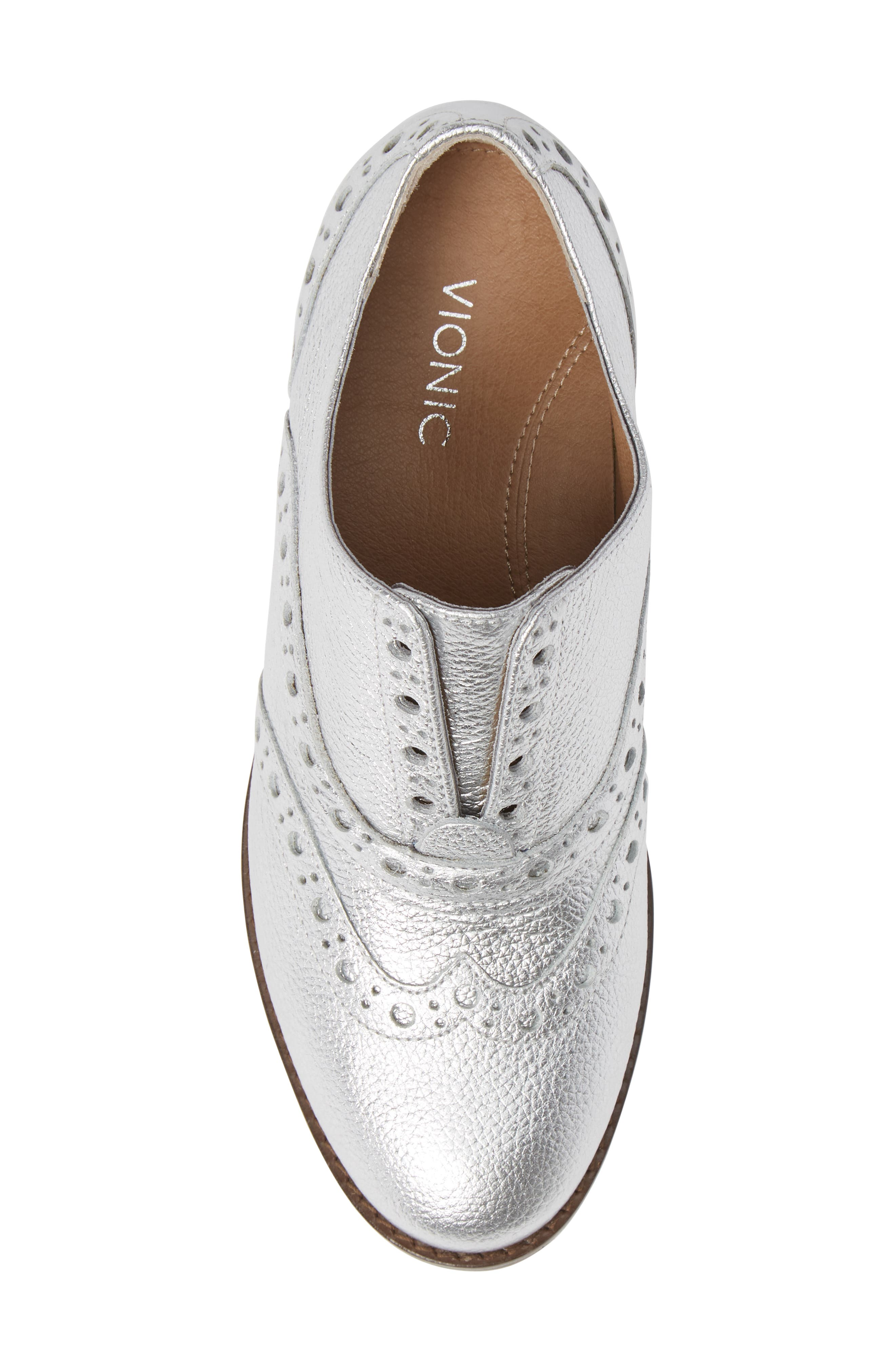 Hadley Wingtip,                             Alternate thumbnail 5, color,                             SILVER LEATHER