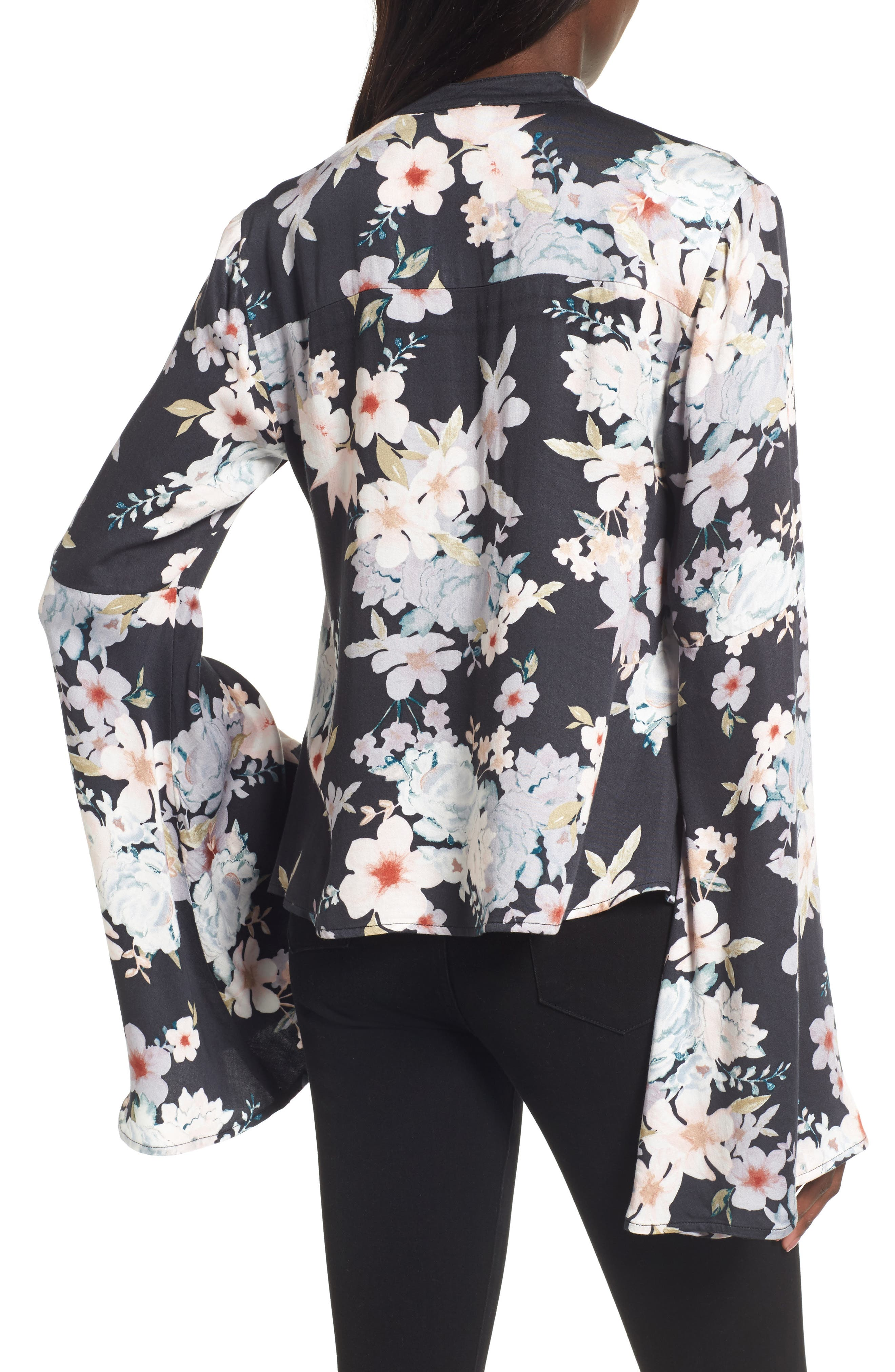 Mystic Nights Floral Blouse,                             Alternate thumbnail 2, color,                             400