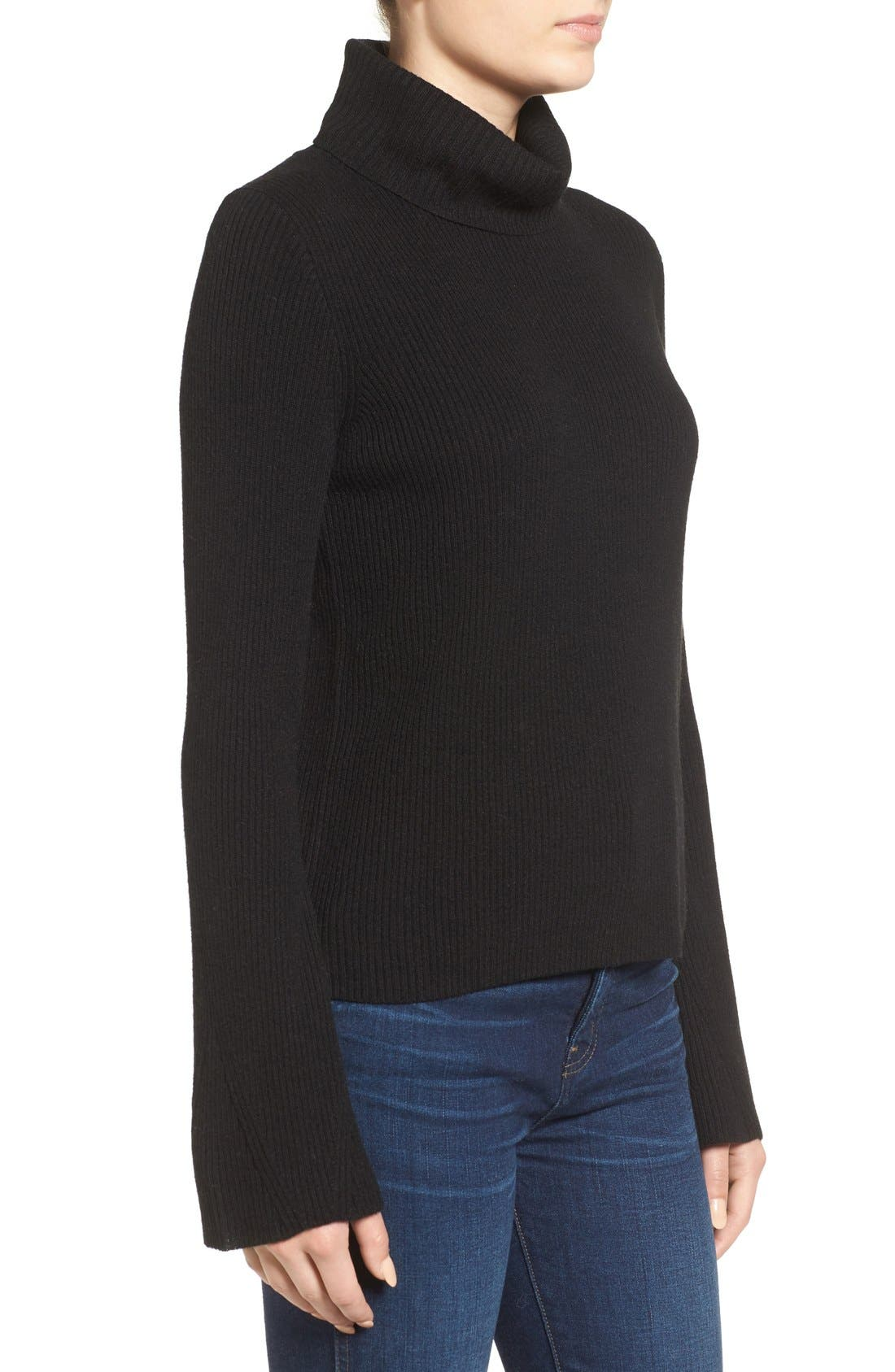 MADEWELL,                             Turtleneck Sweater,                             Alternate thumbnail 6, color,                             001