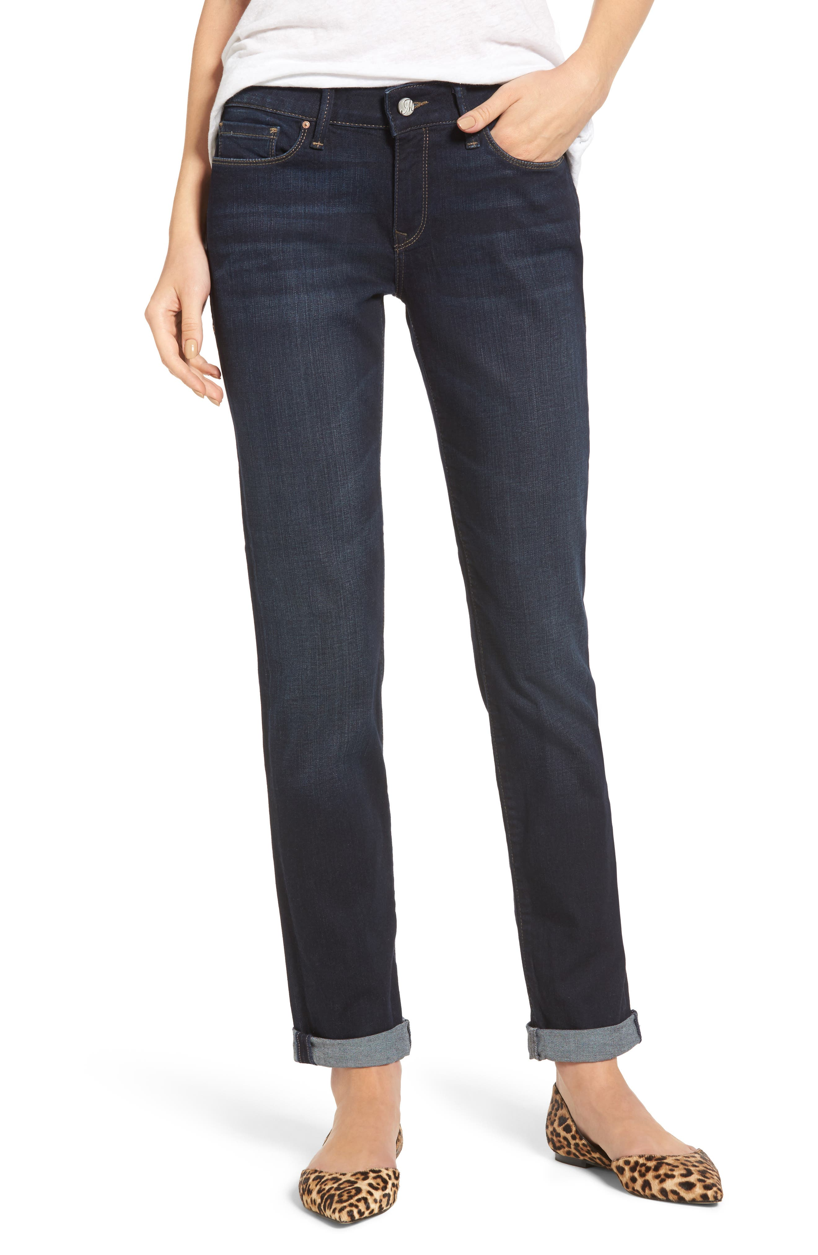 Emma Slim Boyfriend Jeans,                         Main,                         color, DEEP BRUSHED TRIBECA