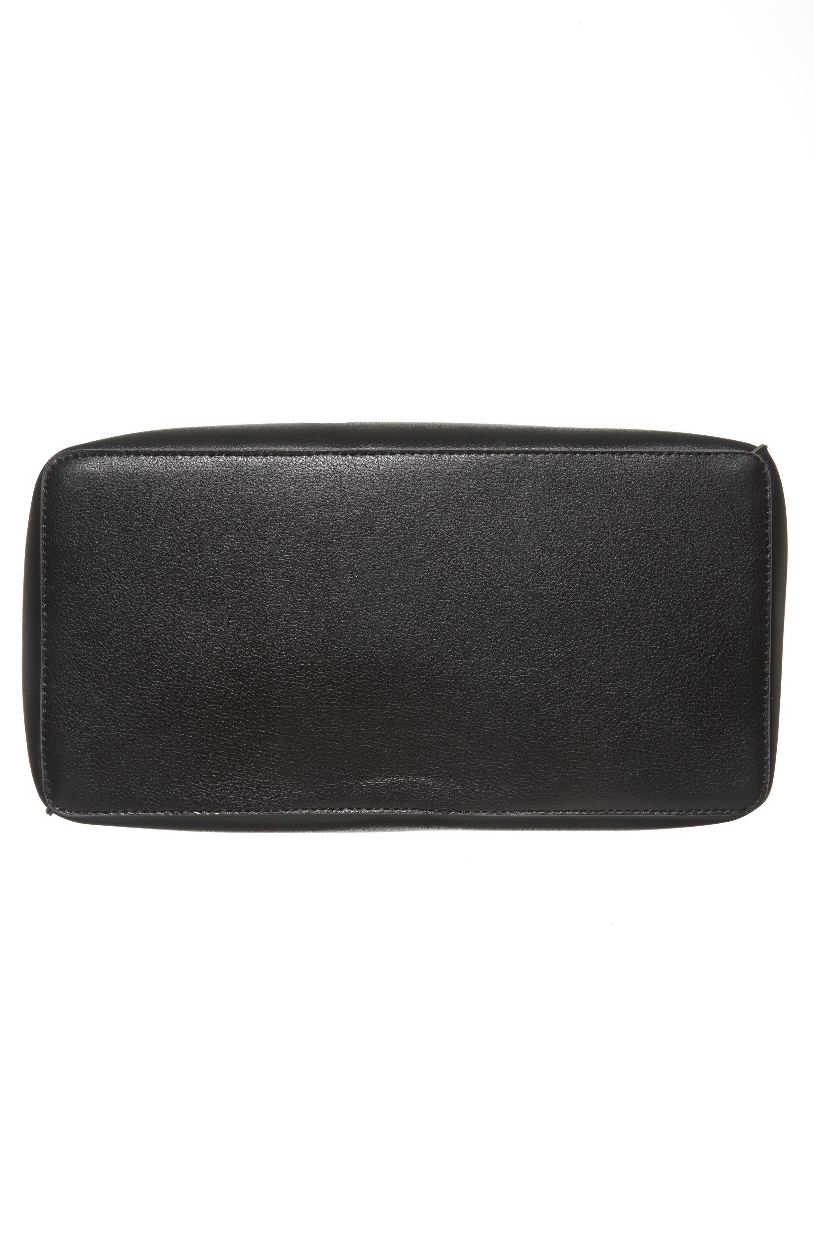 Prima Faux Leather Bucket Bag & Zip Pouch,                             Alternate thumbnail 6, color,                             001