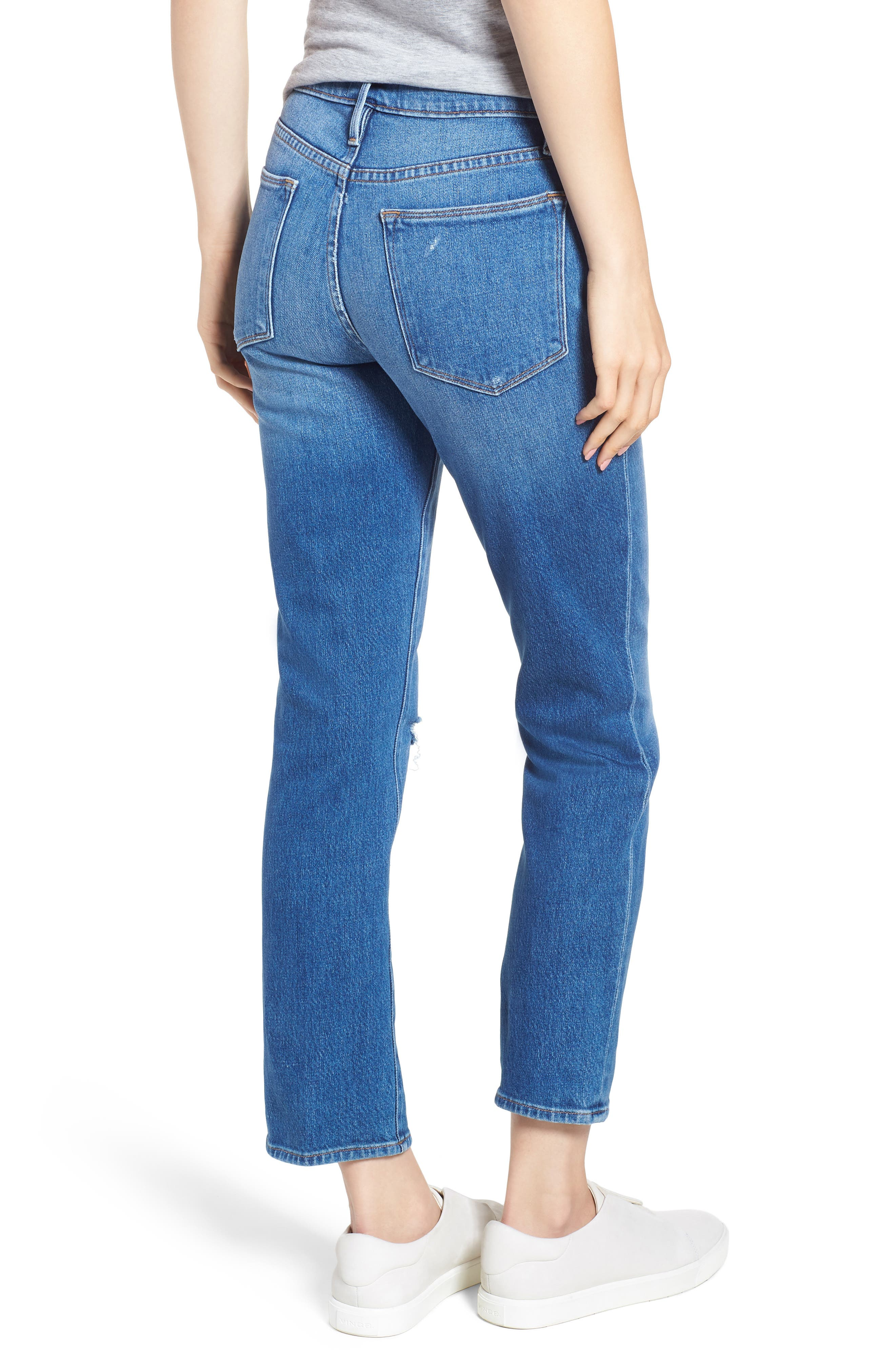 Le High Straight Leg Jeans,                             Alternate thumbnail 2, color,                             420