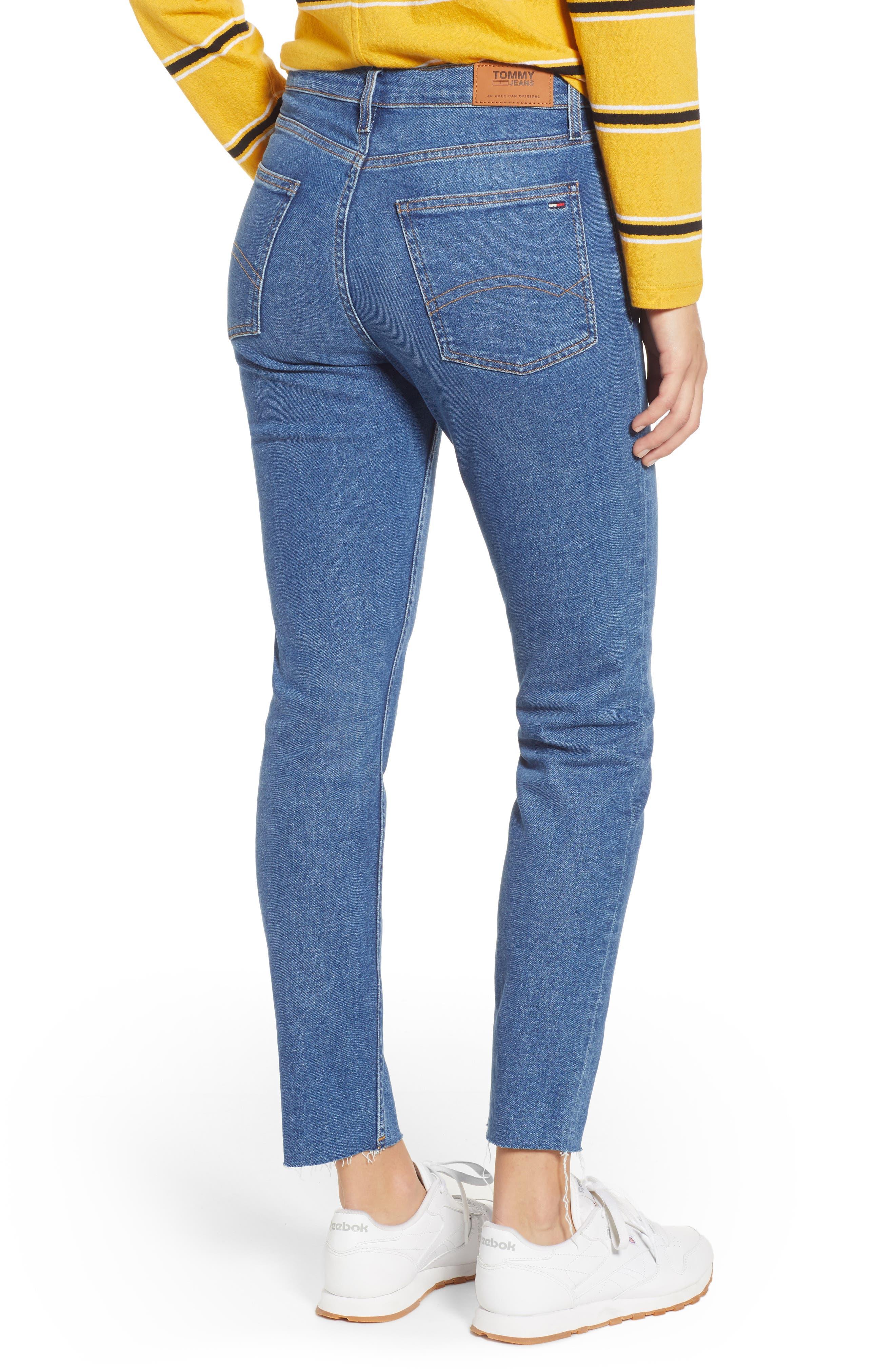 Izzy High Waist Slim Crop Jeans,                             Alternate thumbnail 2, color,                             400