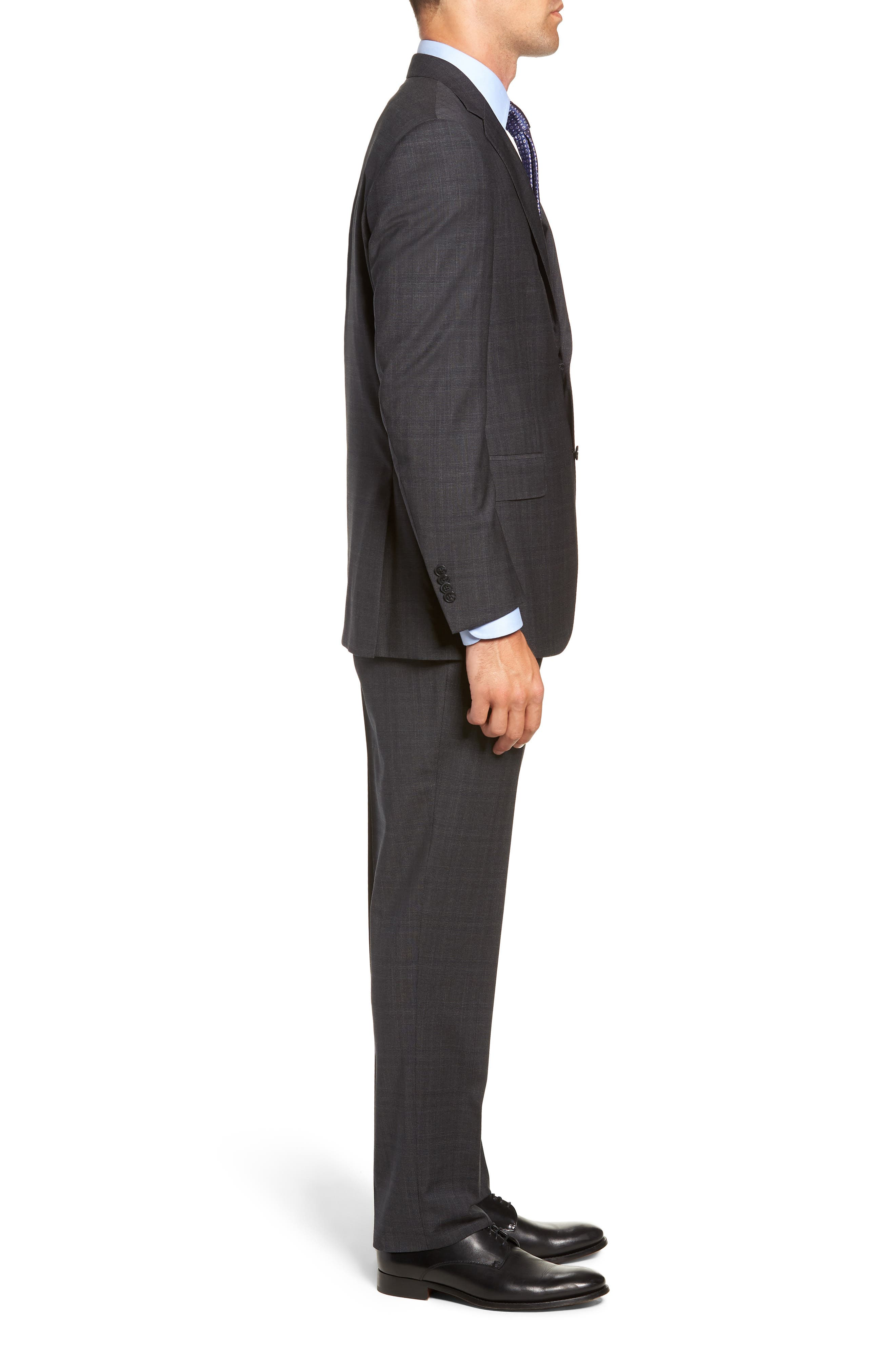 Flynn Classic Fit Plaid Wool Suit,                             Alternate thumbnail 3, color,                             CHARCOAL