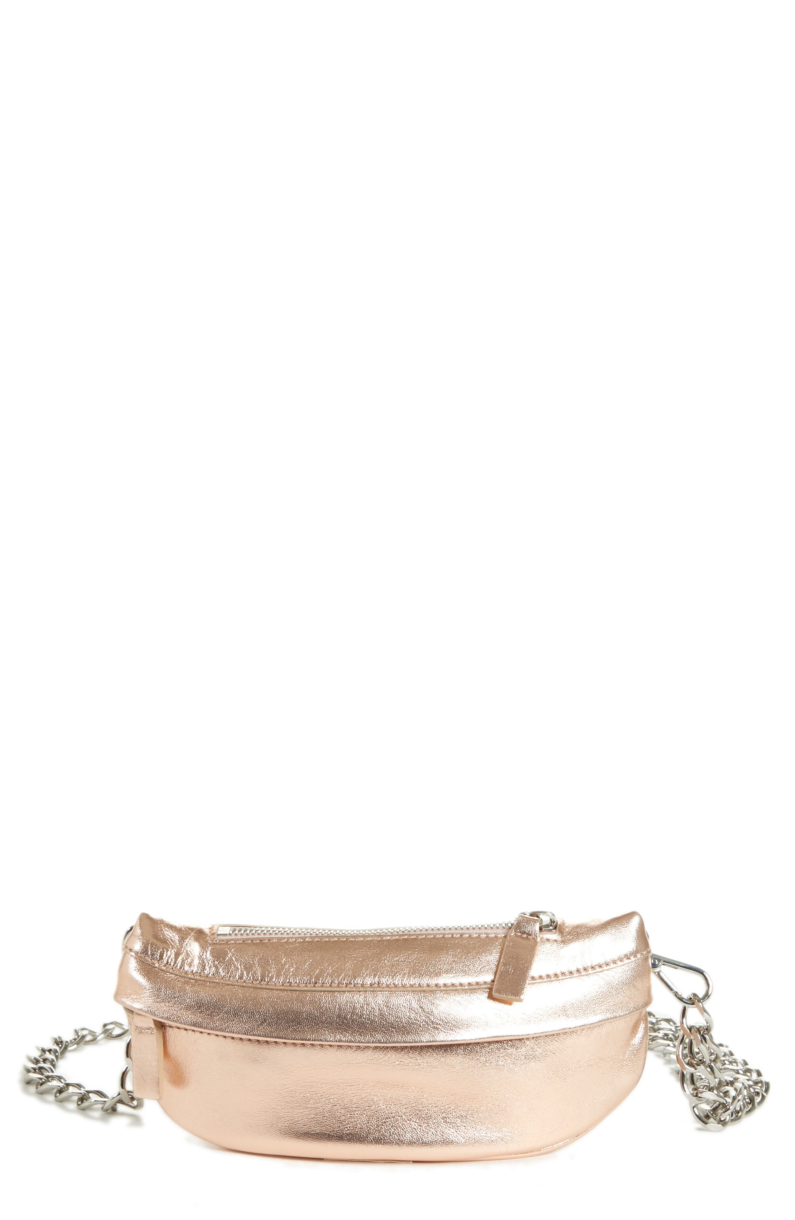 AVEC LA TROUPE Mini Metallic Troupe Convertible Belt Bag - Pink in Rose Gold