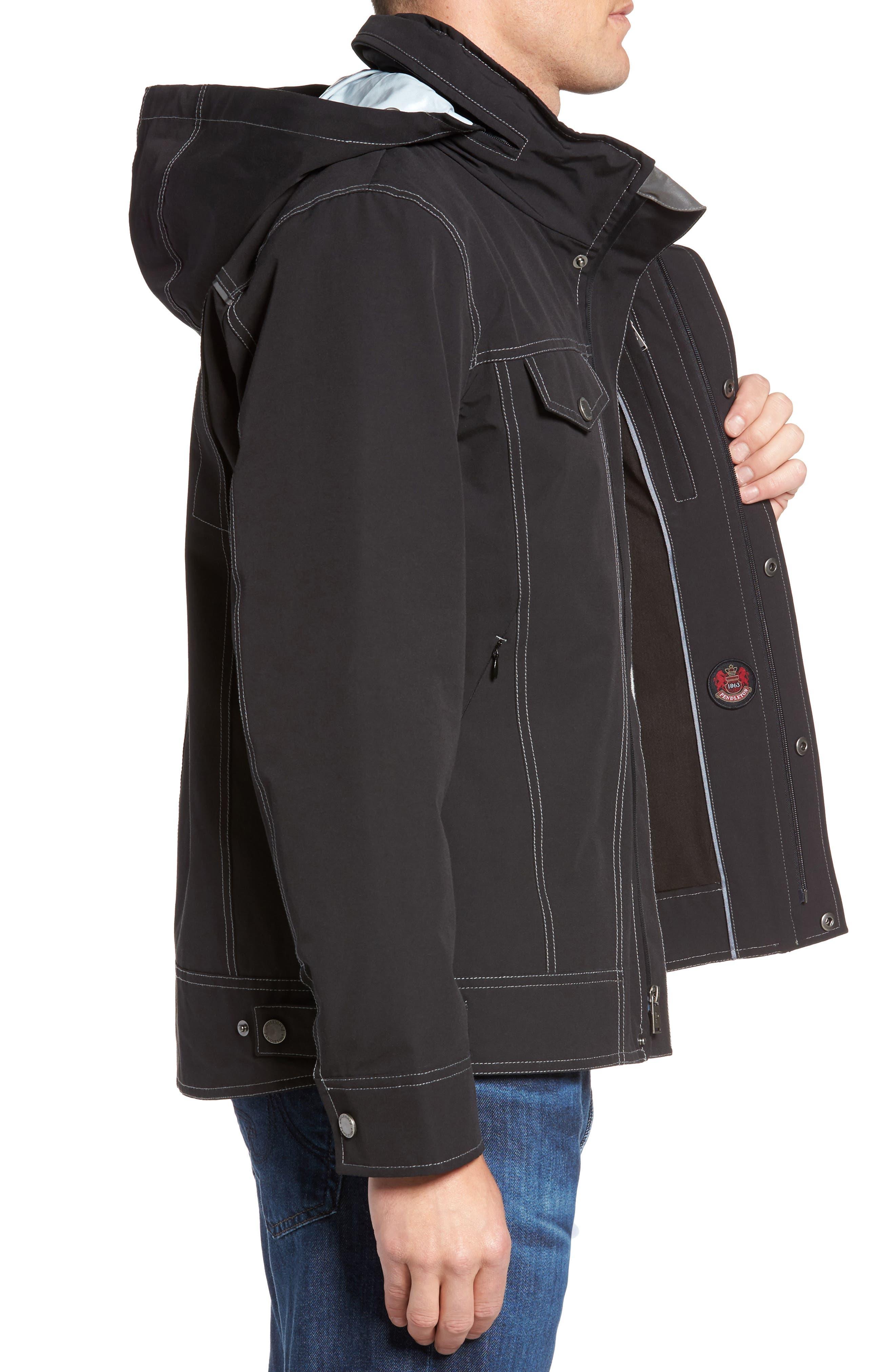 Forks Waterproof Jacket,                             Alternate thumbnail 3, color,                             001