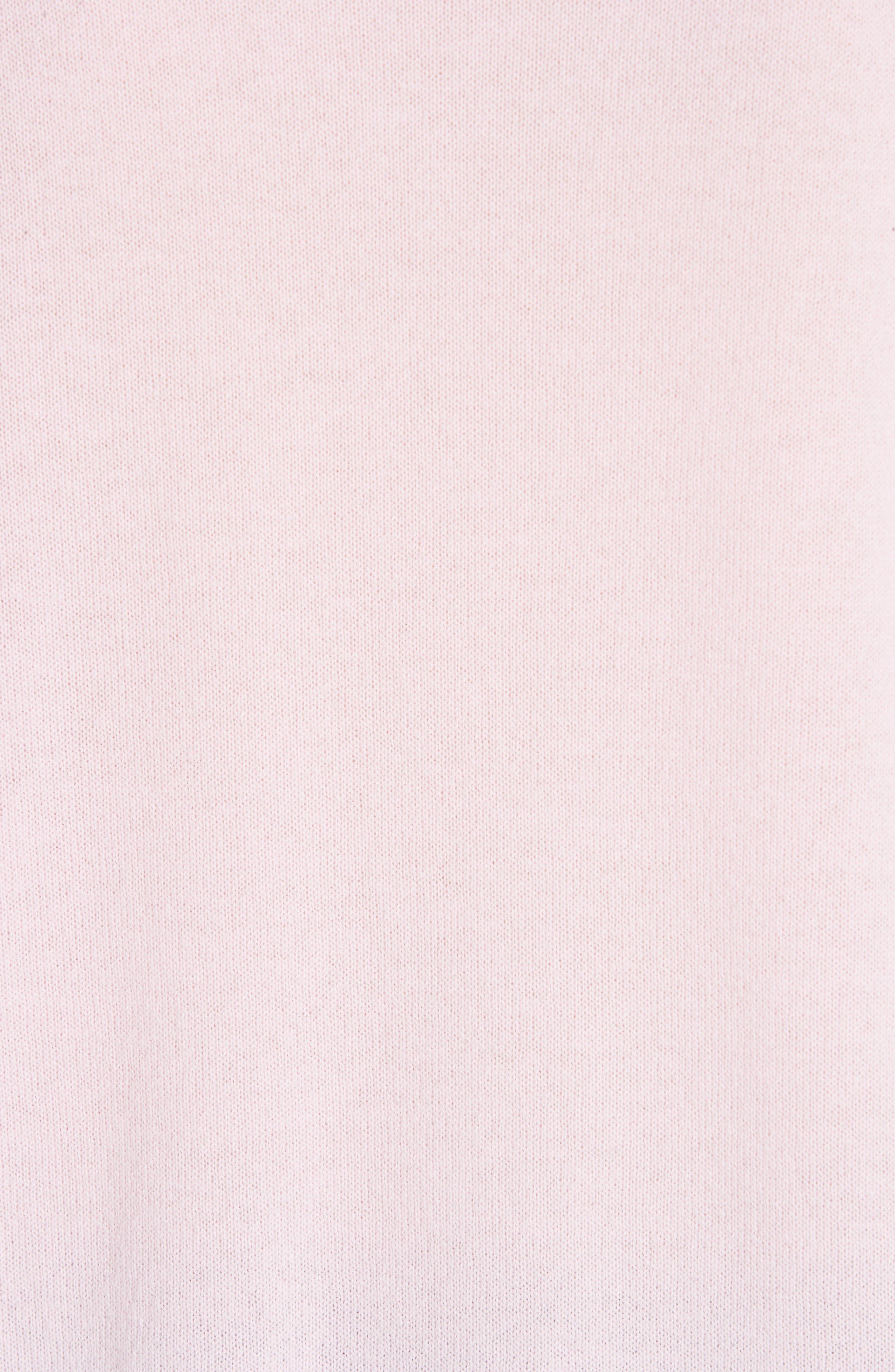 Metallic Trim Cashmere Sweater,                             Alternate thumbnail 5, color,                             PINK