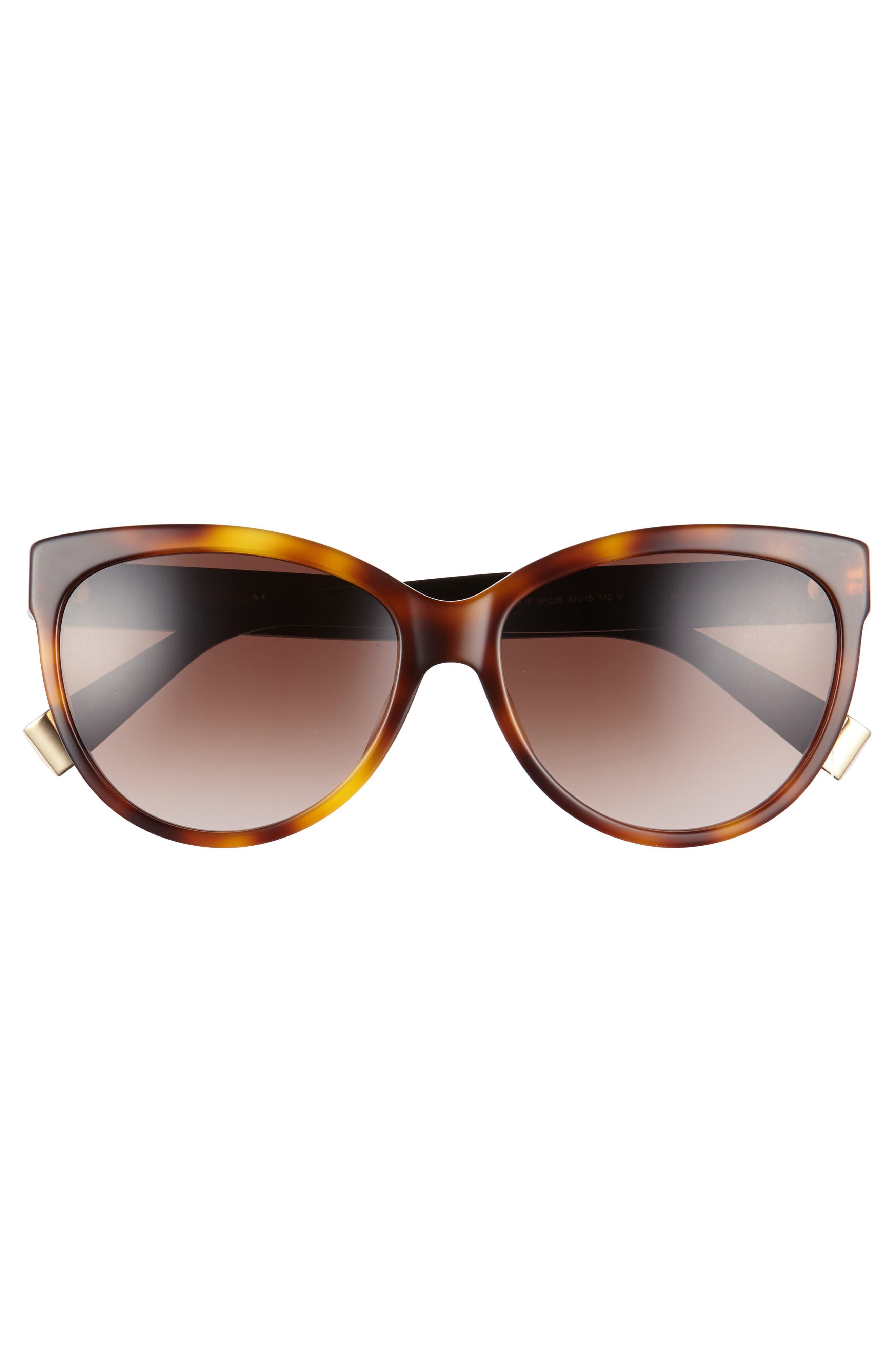 Moderii 57mm Gradient Cat Eye Sunglasses,                             Alternate thumbnail 6, color,