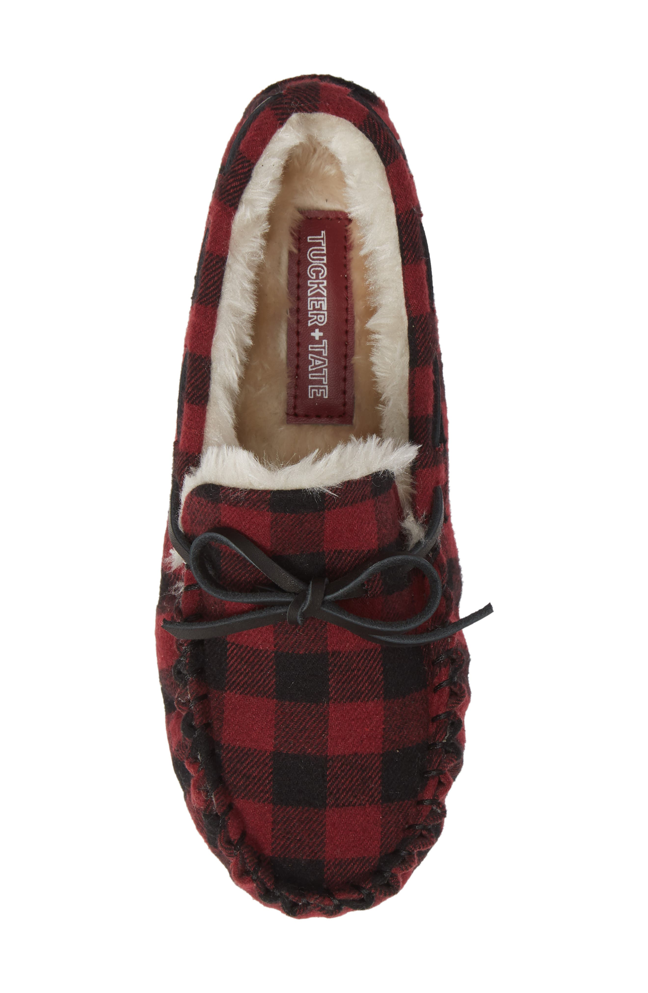 Max Faux Fur Moccasin Slipper,                             Alternate thumbnail 5, color,                             600