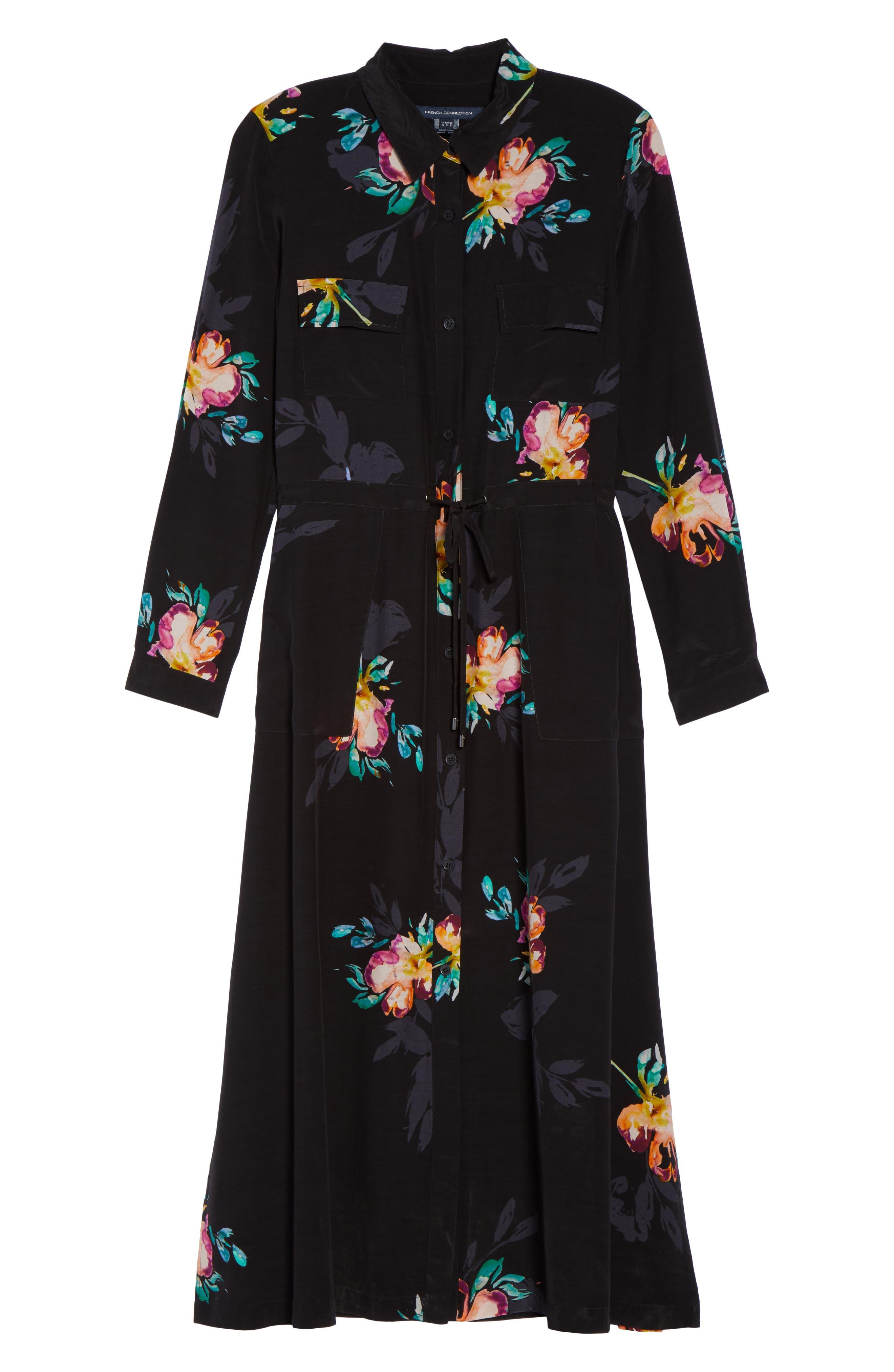Delphine Midi Shirtdress,                             Alternate thumbnail 6, color,                             007