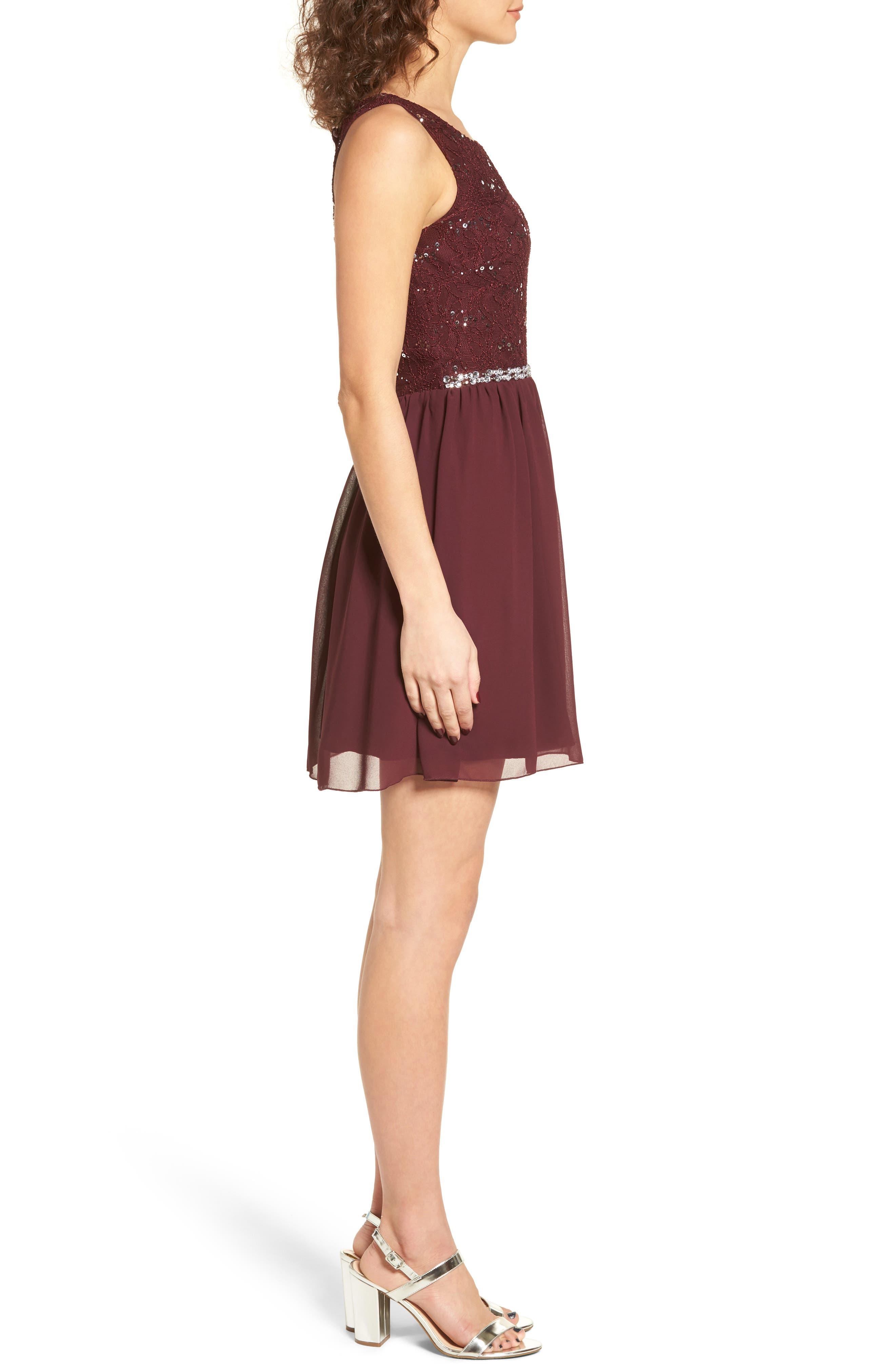 Jeweled Belt Dress,                             Alternate thumbnail 6, color,