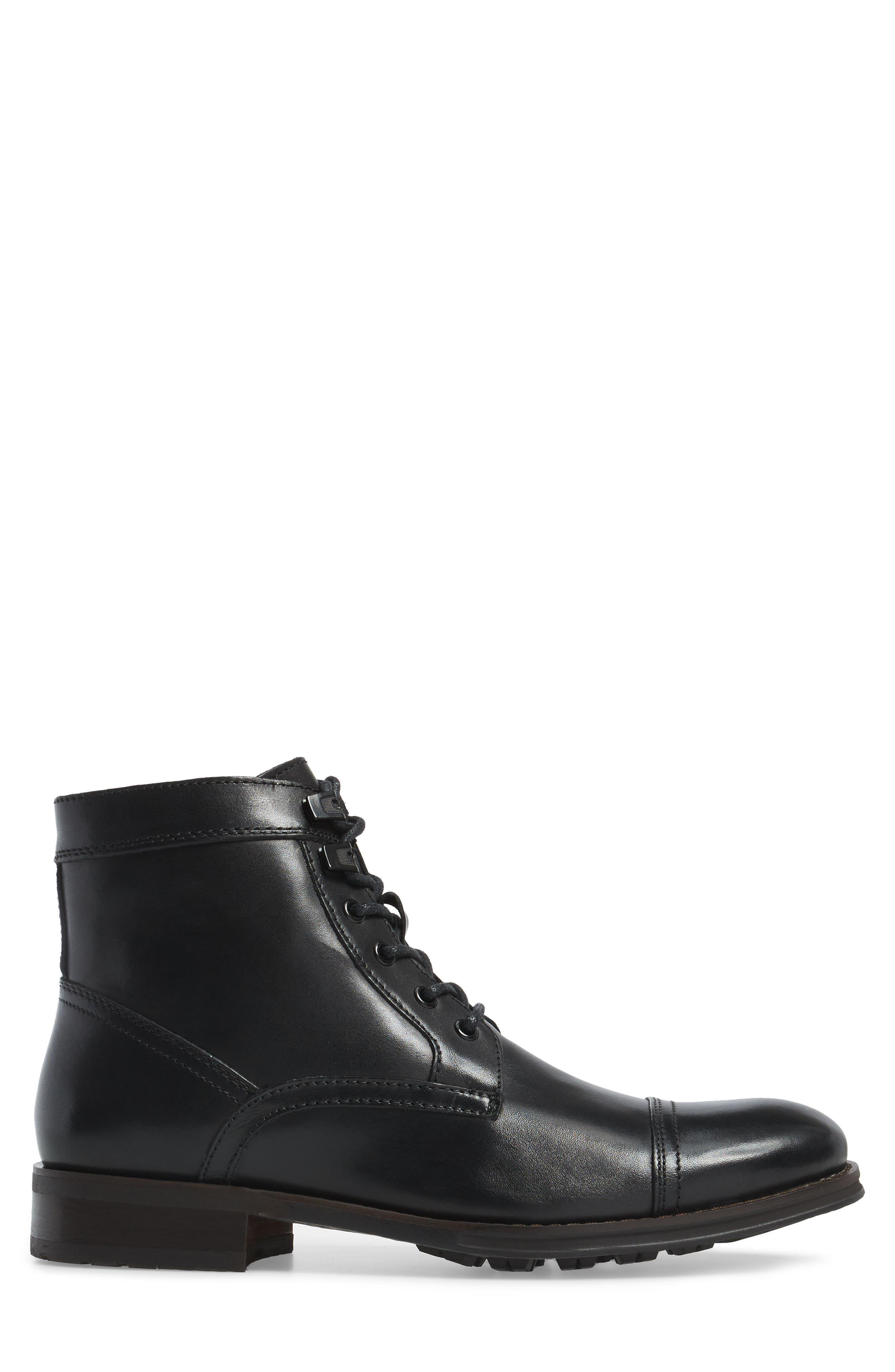Cap Toe Boot,                             Alternate thumbnail 3, color,                             001