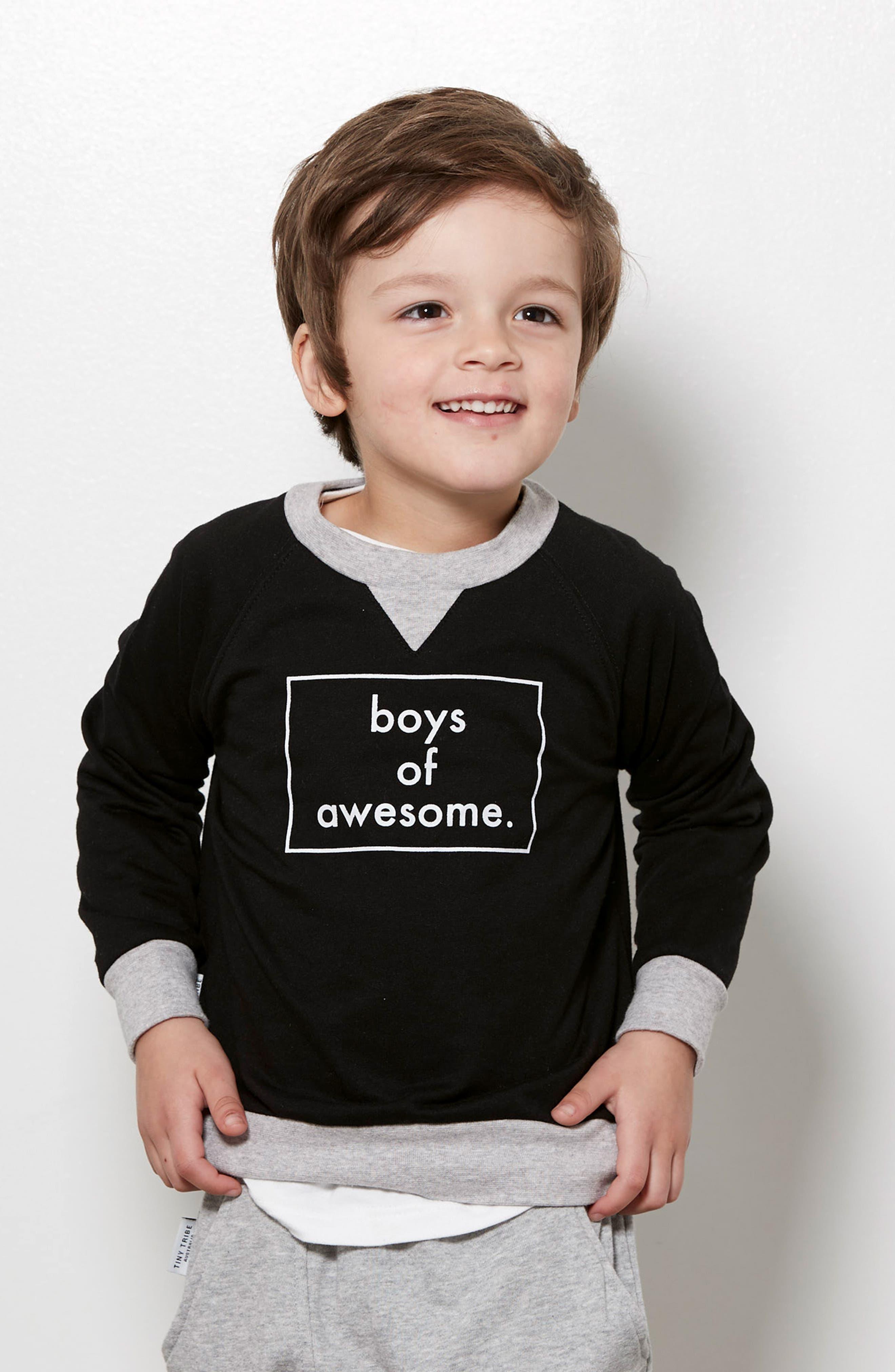 Boys of Awesome Sweatshirt,                             Alternate thumbnail 4, color,                             001