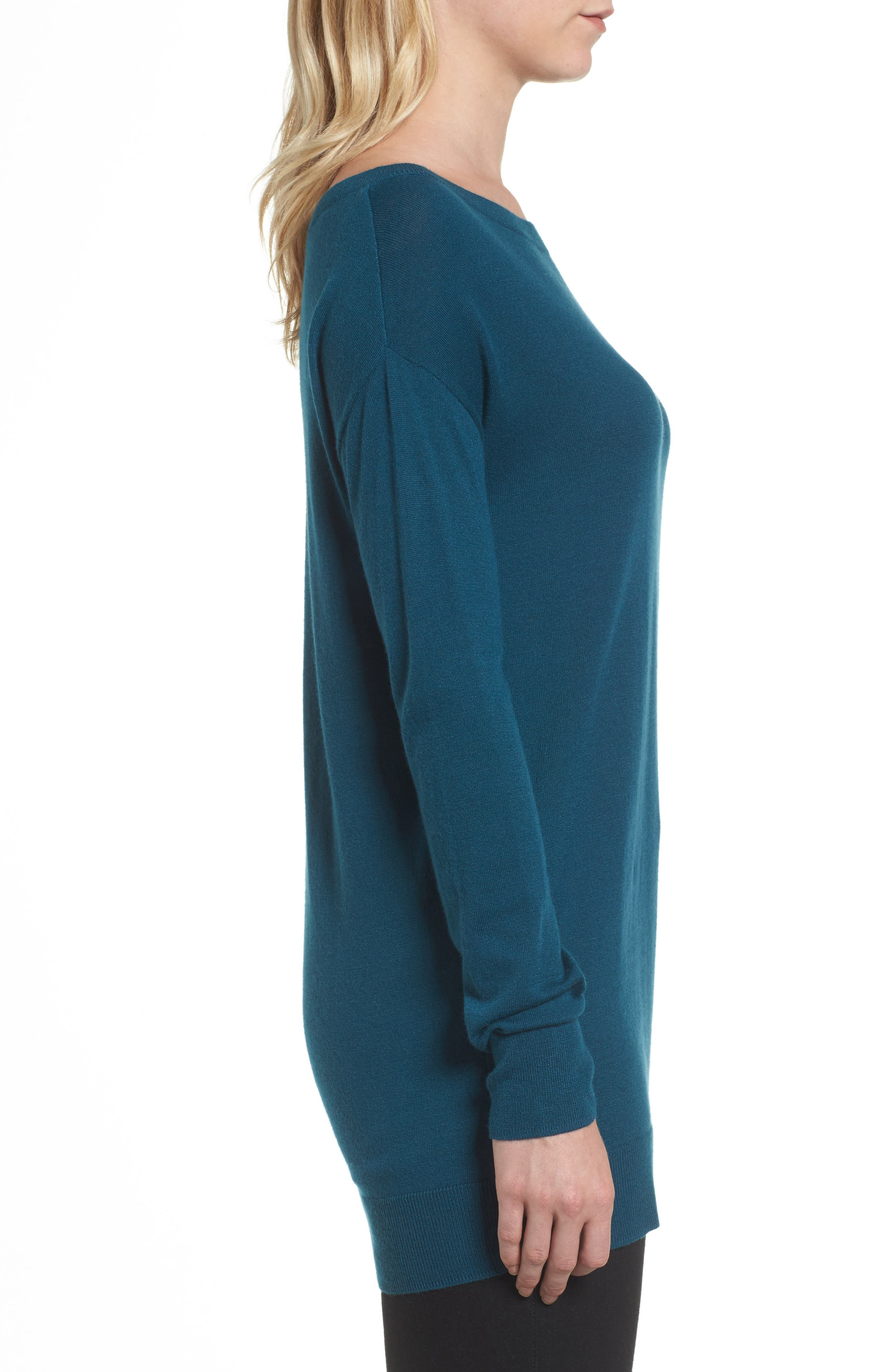 Boatneck Tunic Sweater,                             Alternate thumbnail 18, color,