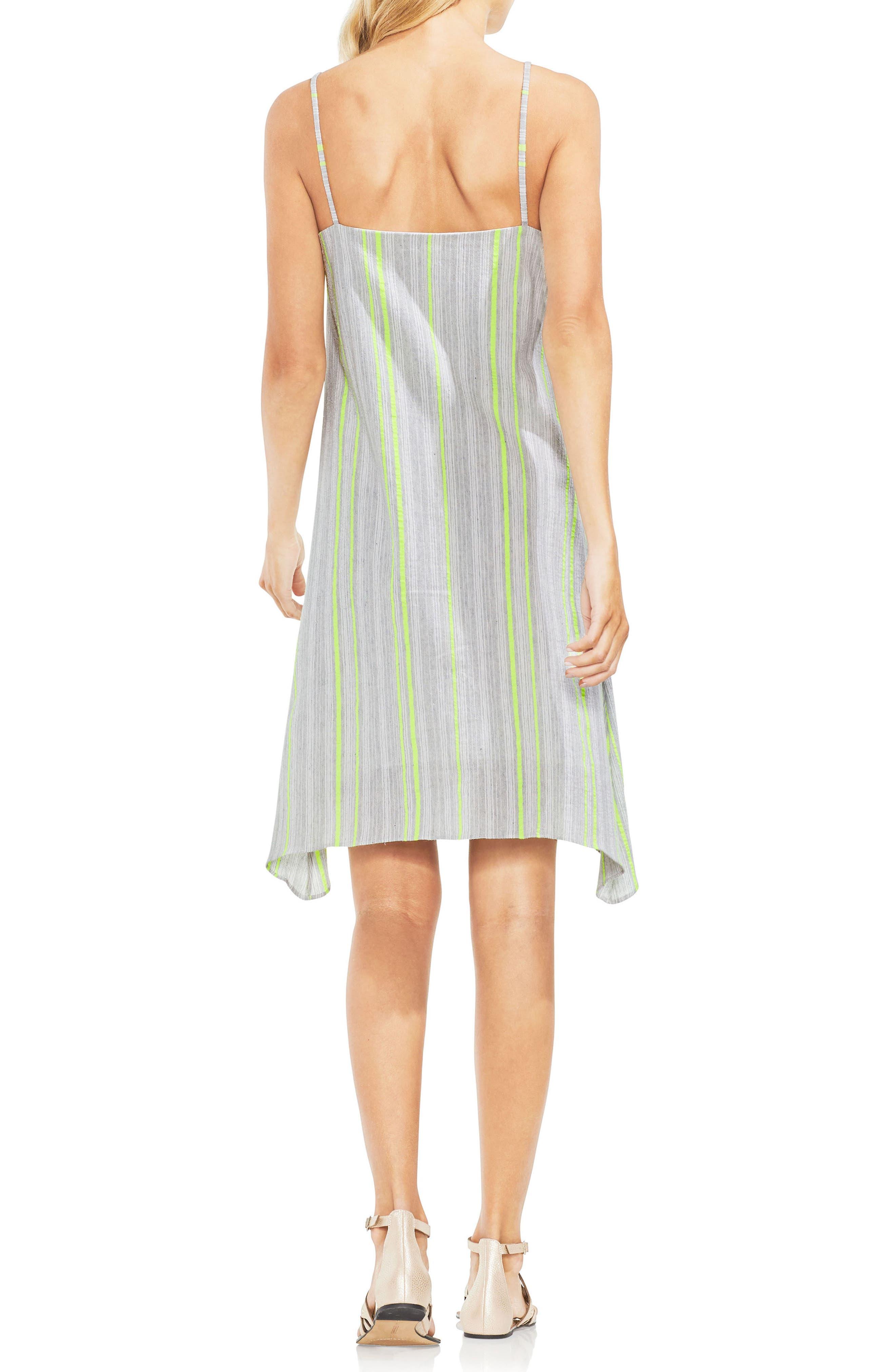 Sharkbite Stripe Cotton Blend Gauze Dress,                             Alternate thumbnail 2, color,                             300