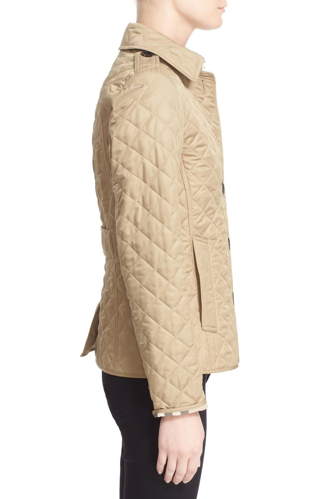 Ashurst Quilted Jacket,                             Alternate thumbnail 4, color,                             CANVAS