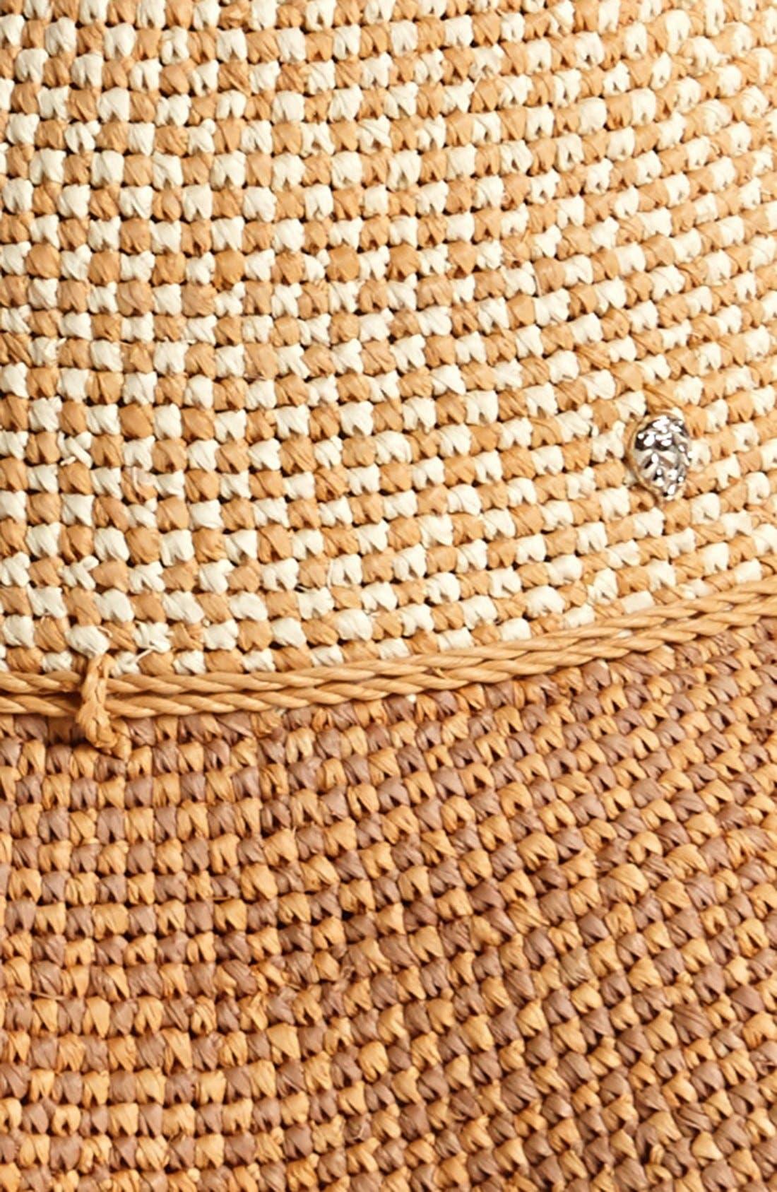 'Provence 12' Packable Raffia Hat,                             Alternate thumbnail 26, color,