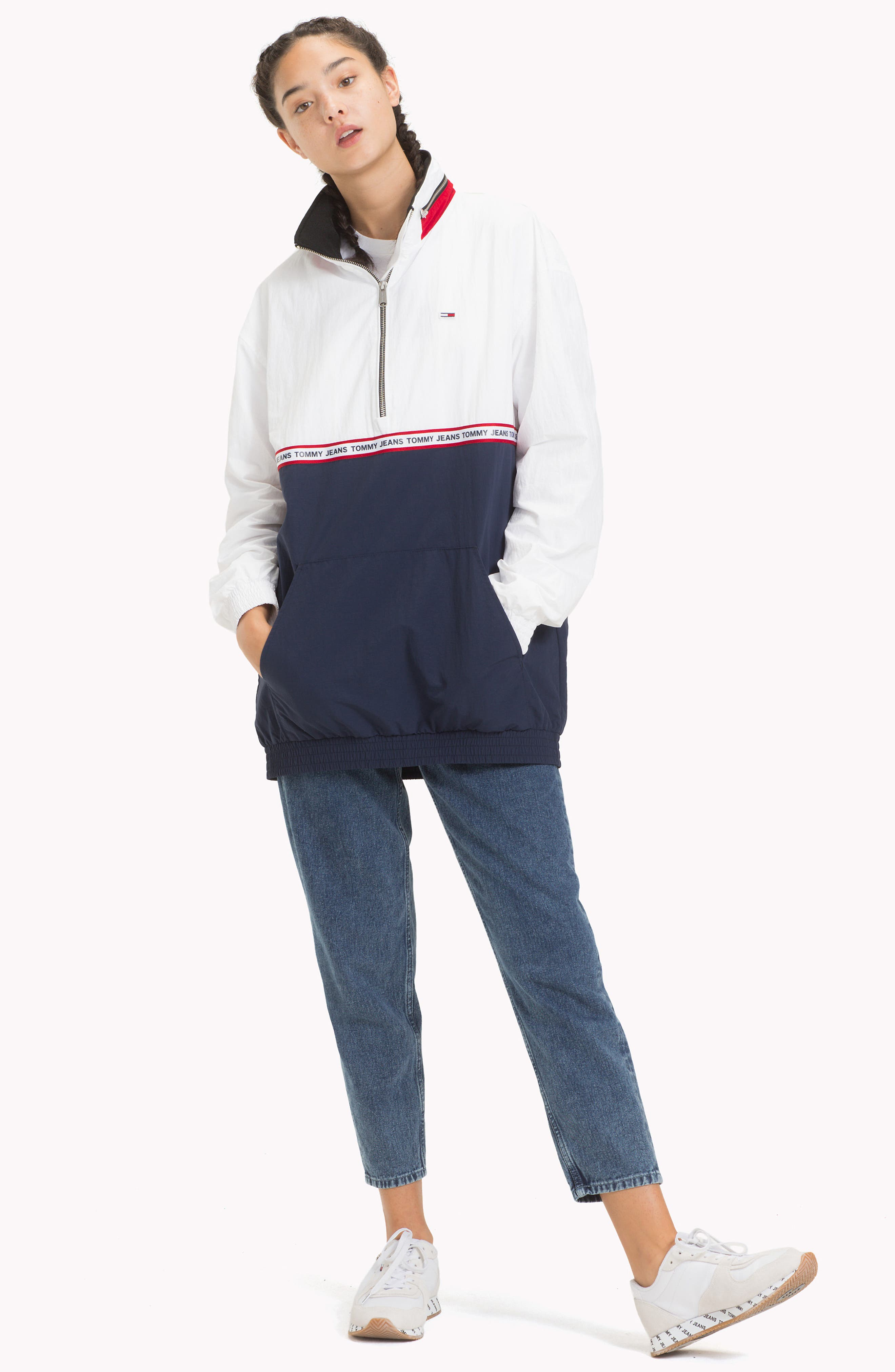 TOMMY JEANS,                             TJW Logo Tape Pullover,                             Alternate thumbnail 8, color,                             400