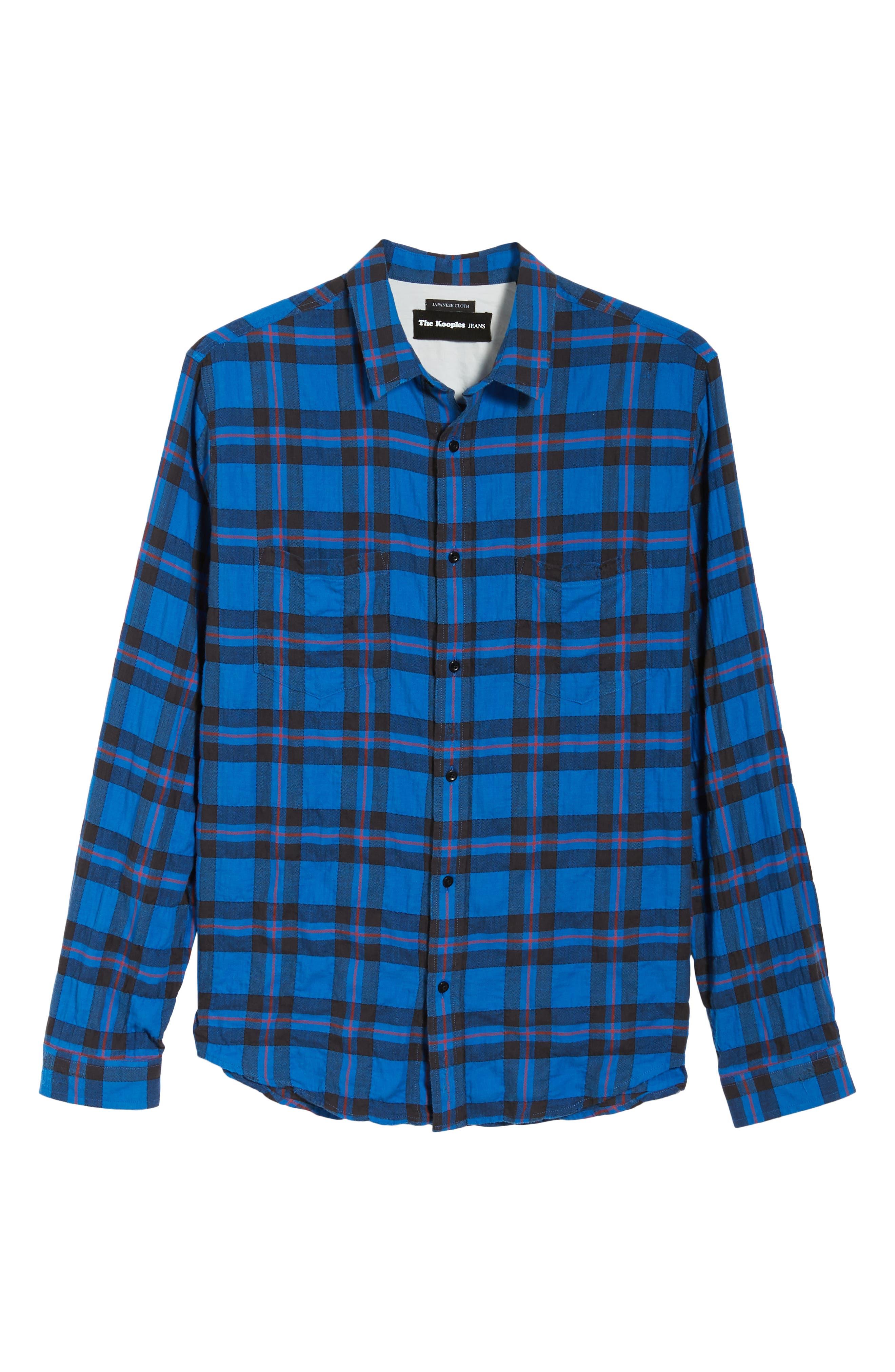 Regular Fit Plaid Sport Shirt,                             Alternate thumbnail 5, color,                             430