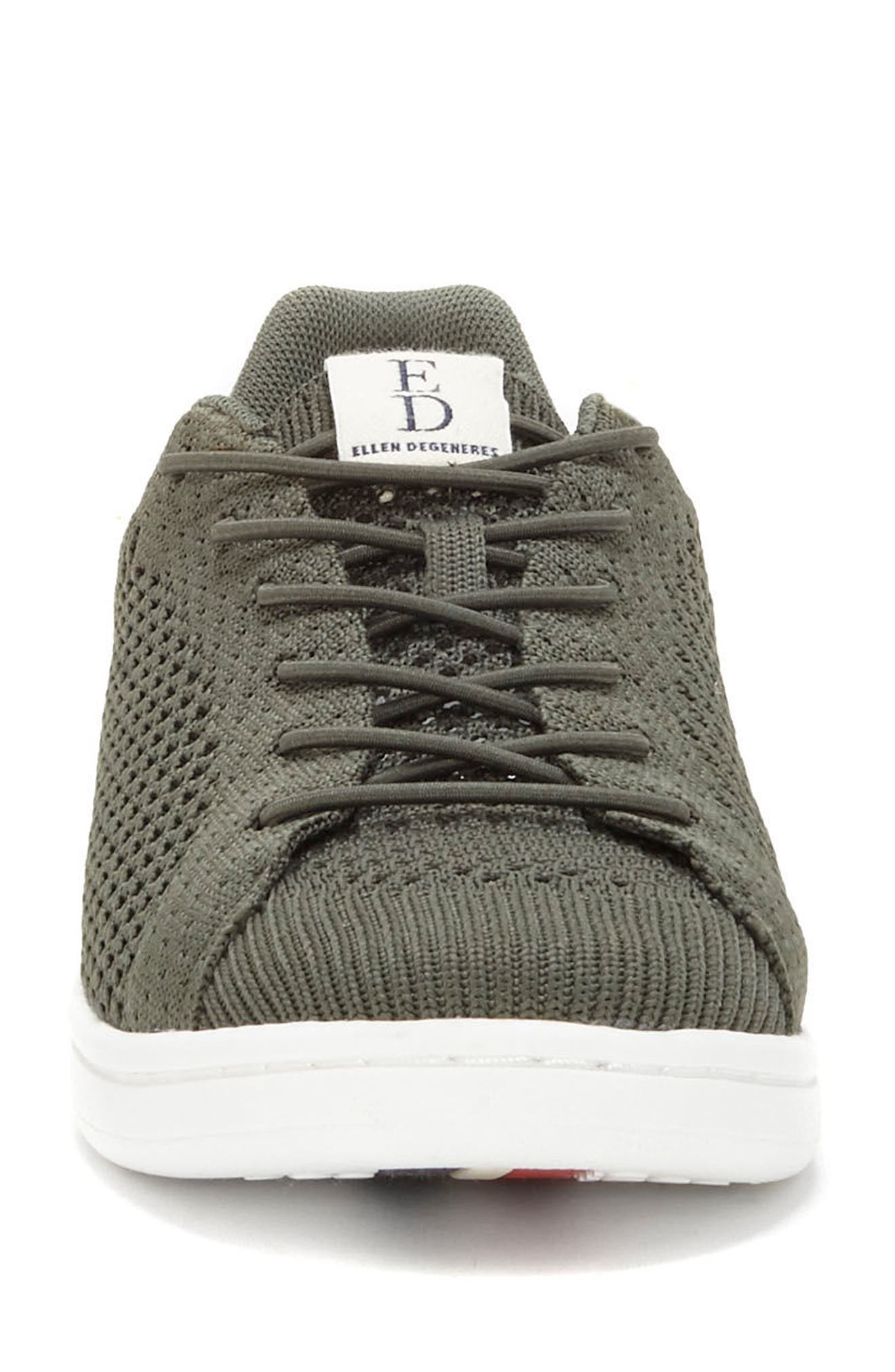 Casie Knit Sneaker,                             Alternate thumbnail 4, color,                             FOREST KNIT FABRIC