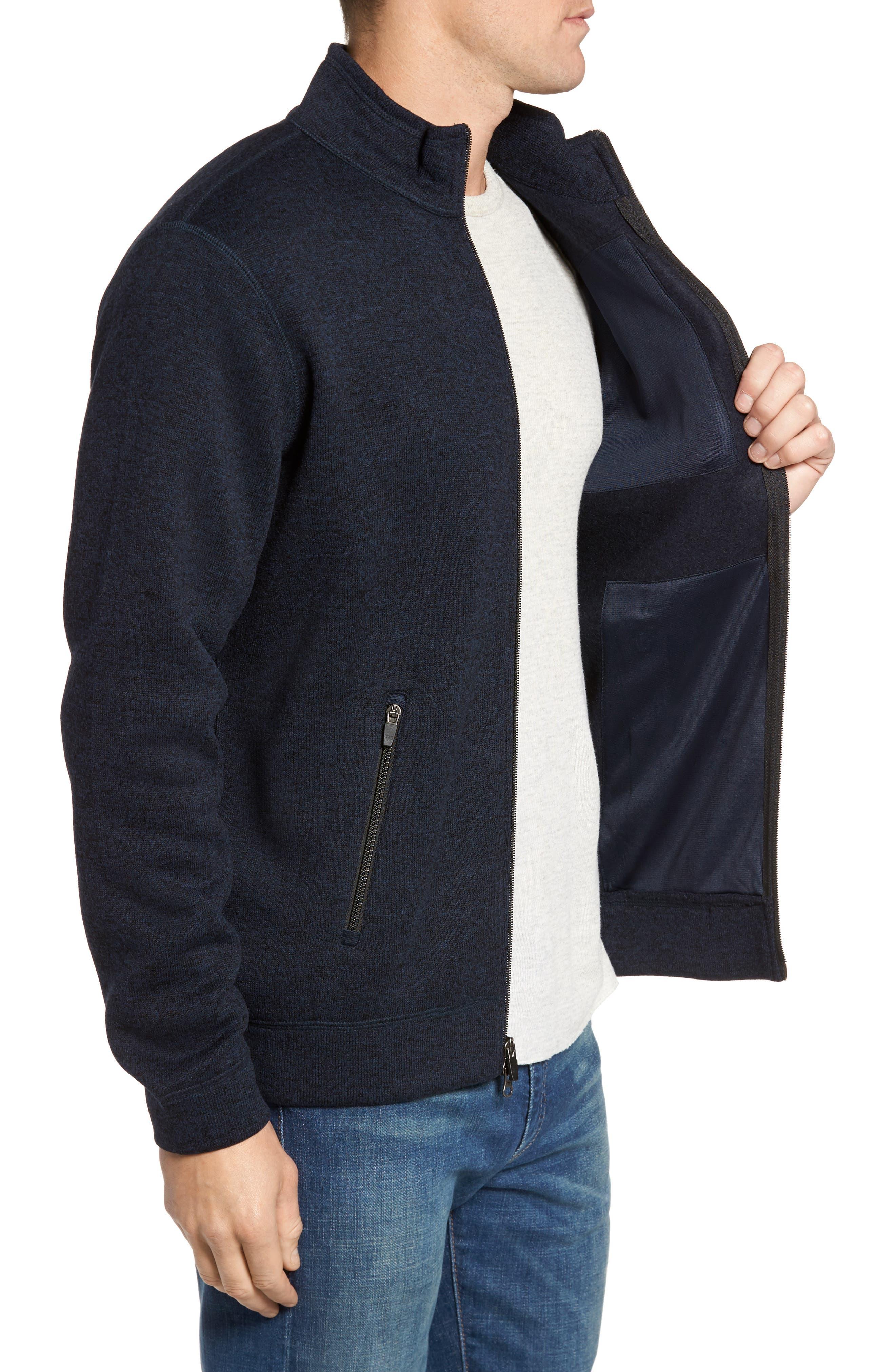 Sweater Knit Fleece Zip Front Jacket,                             Alternate thumbnail 9, color,
