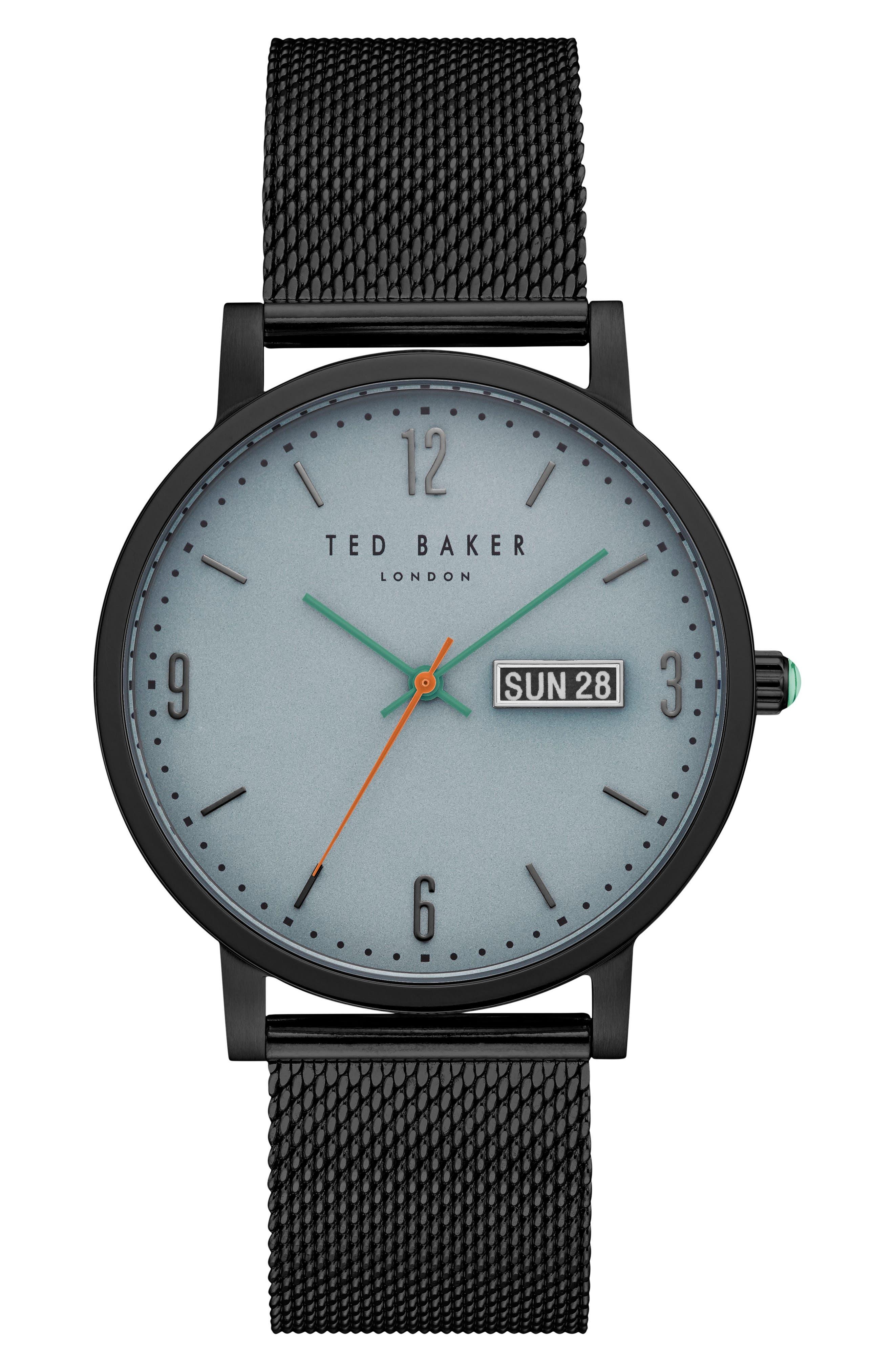 Grant Mesh Bracelet Watch, 40mm,                             Main thumbnail 1, color,                             001
