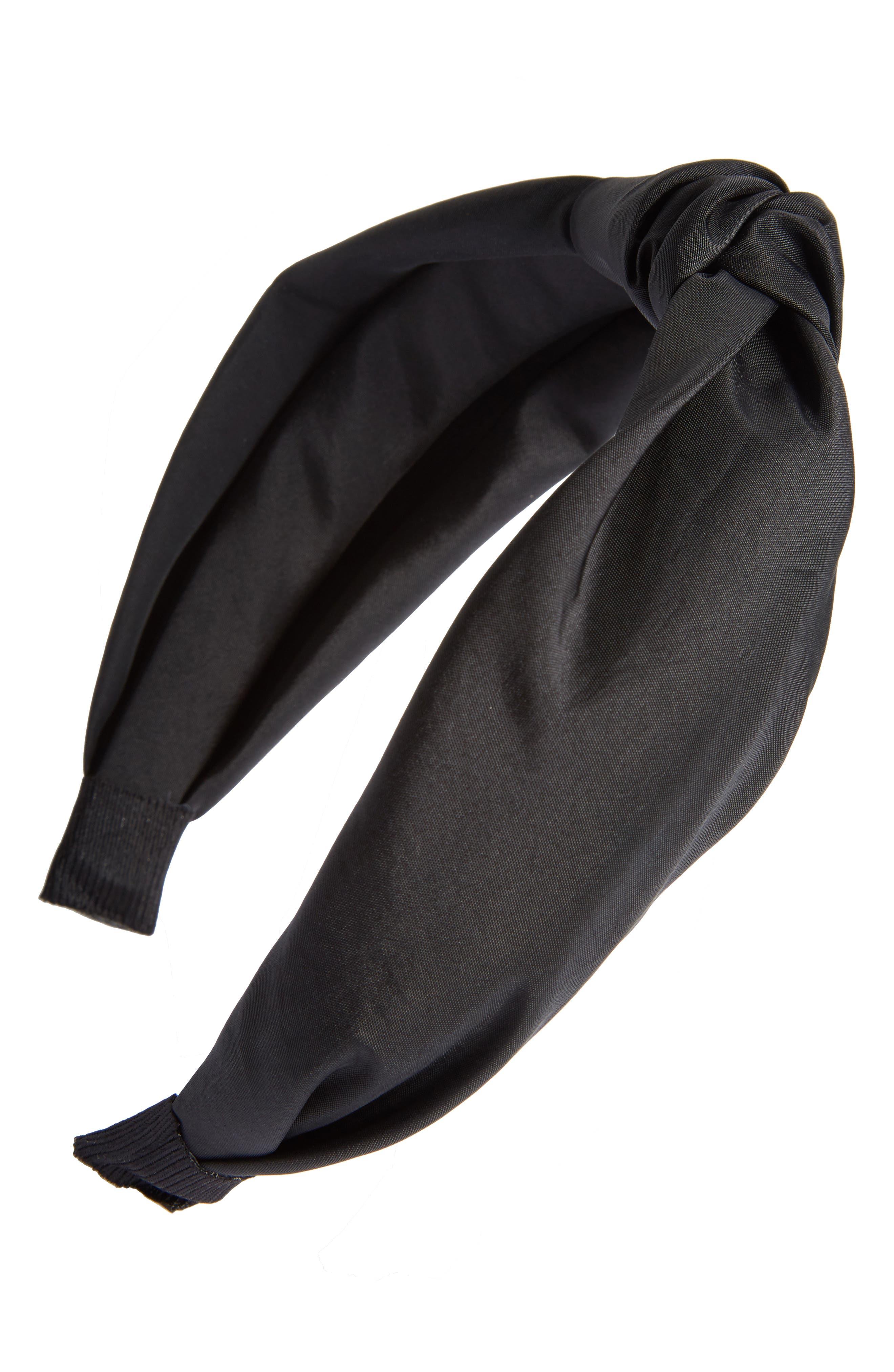 Knotted Taffeta Headband,                         Main,                         color,