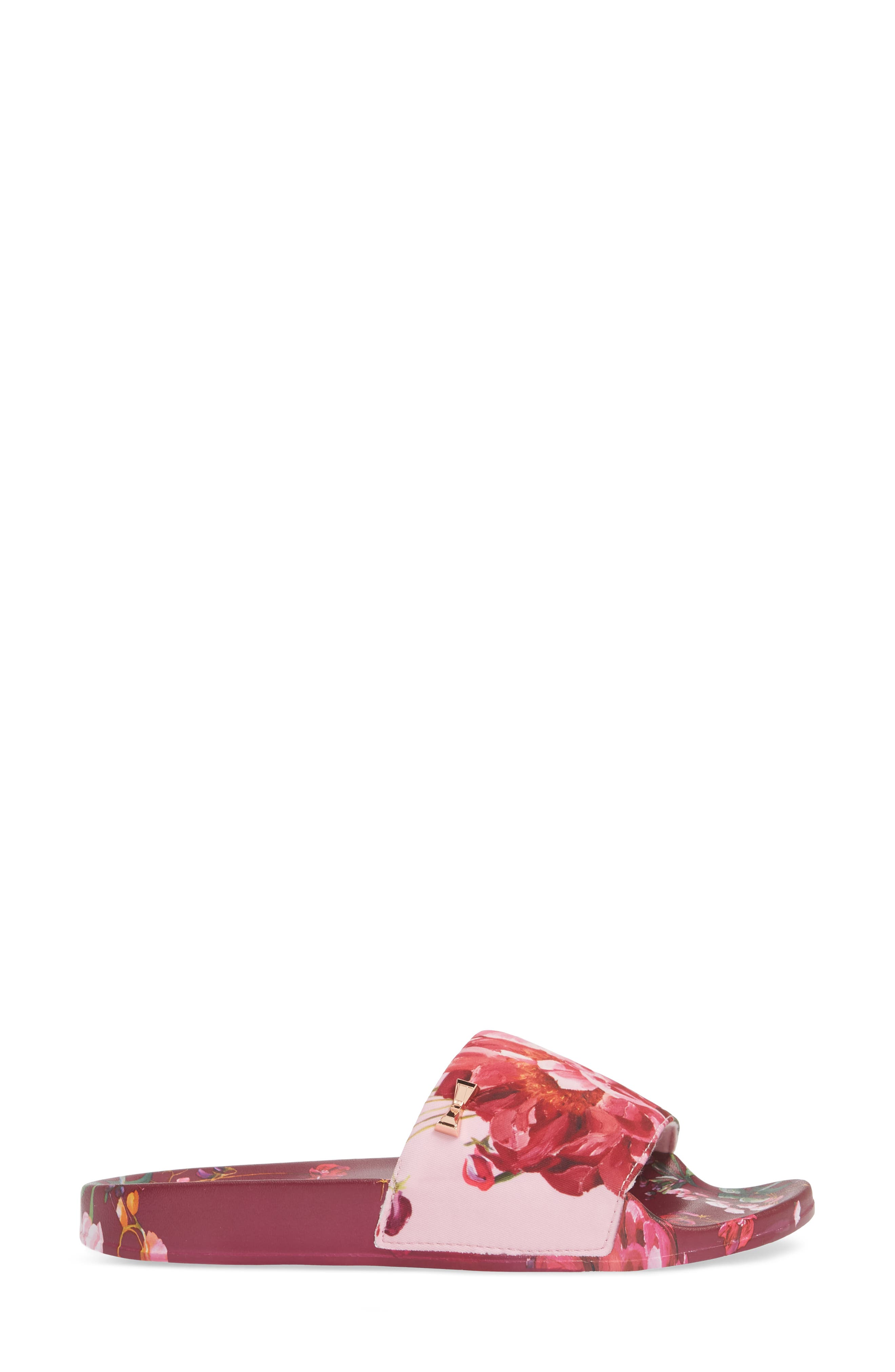 Qarla Slide Sandal,                             Alternate thumbnail 3, color,                             SERENITY LEATHER