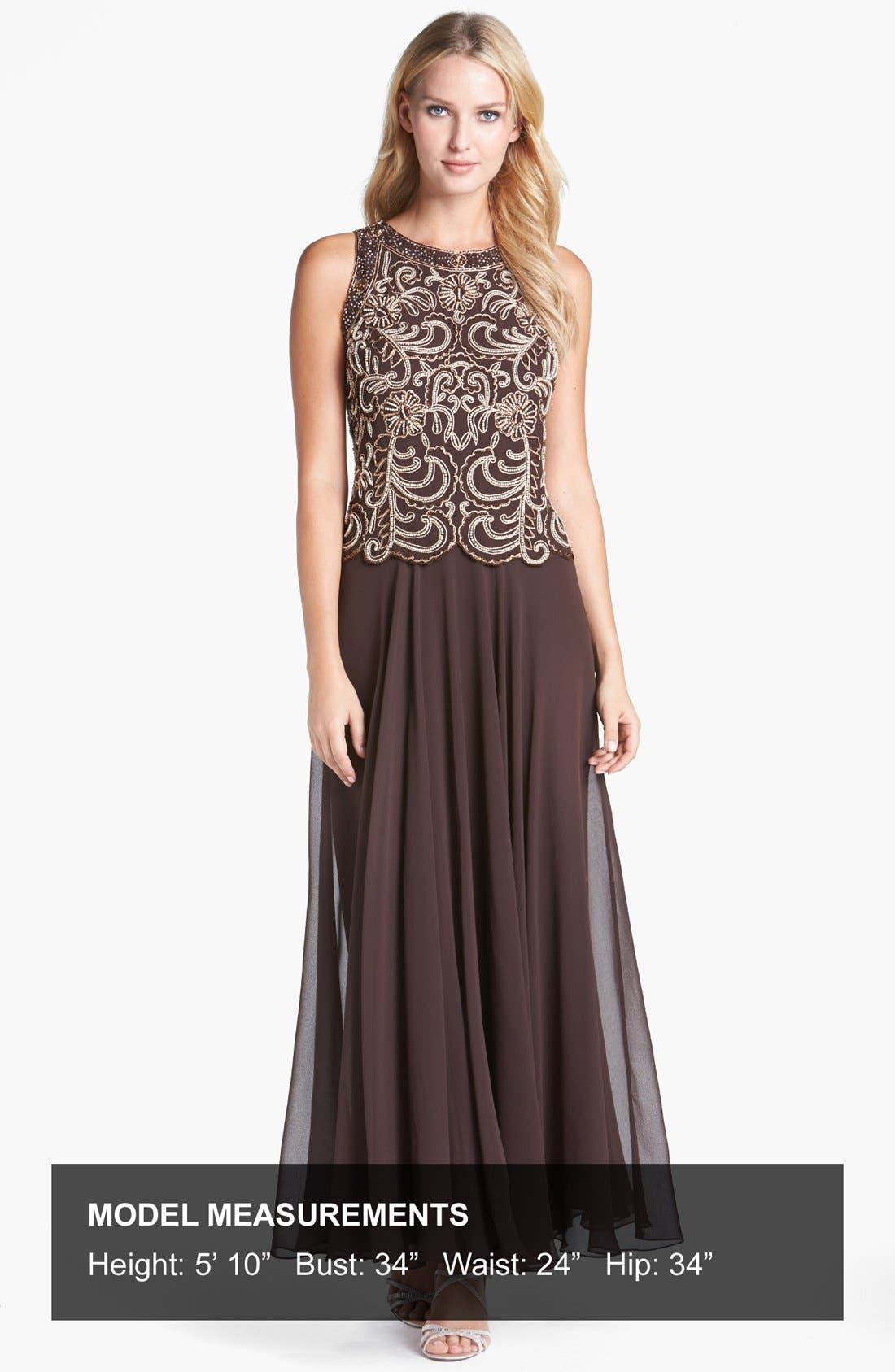 Beaded Mock Two-Piece Dress,                             Alternate thumbnail 3, color,                             213