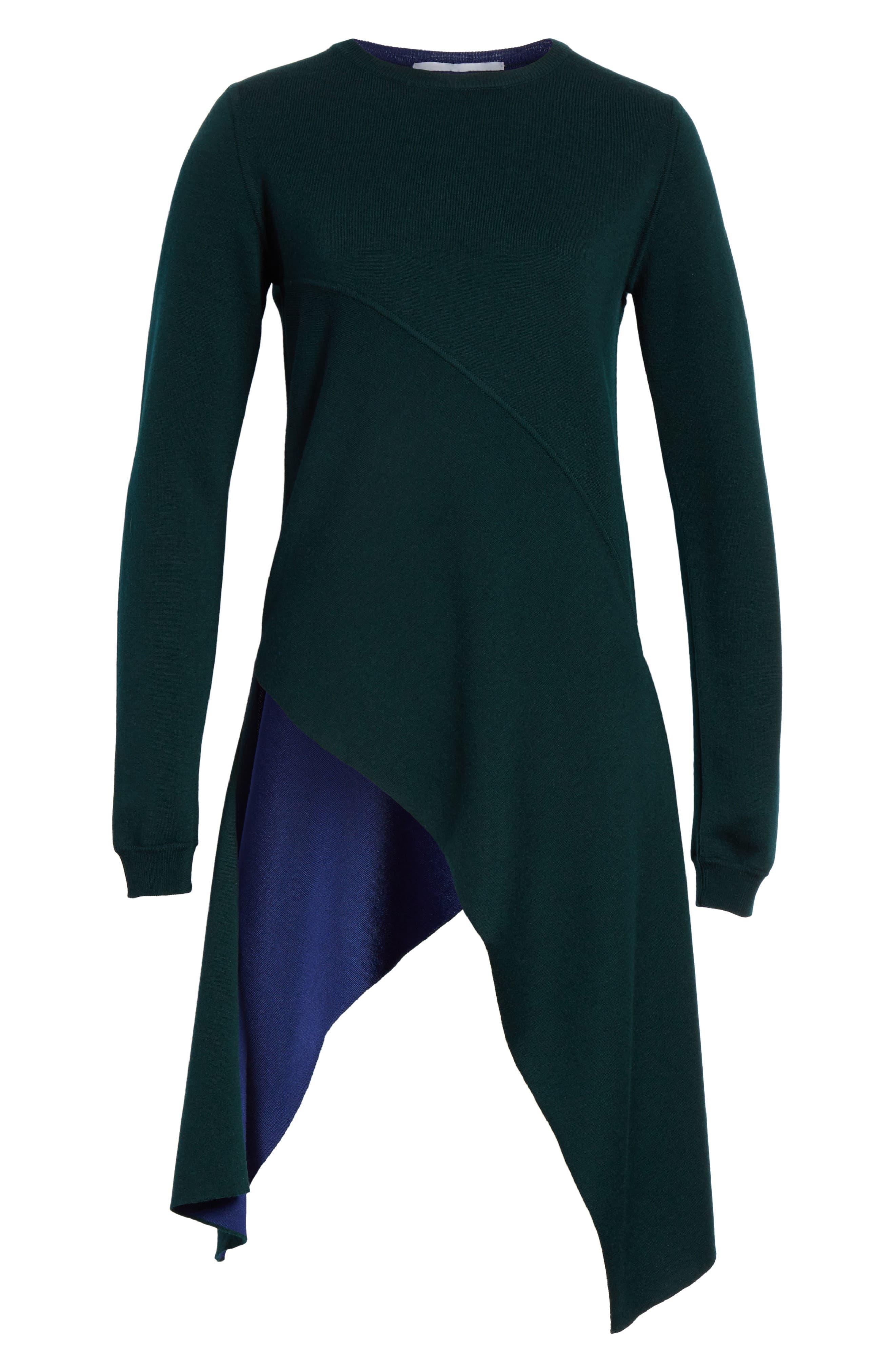 Reversible Knit Asymmetrical Top,                             Alternate thumbnail 7, color,