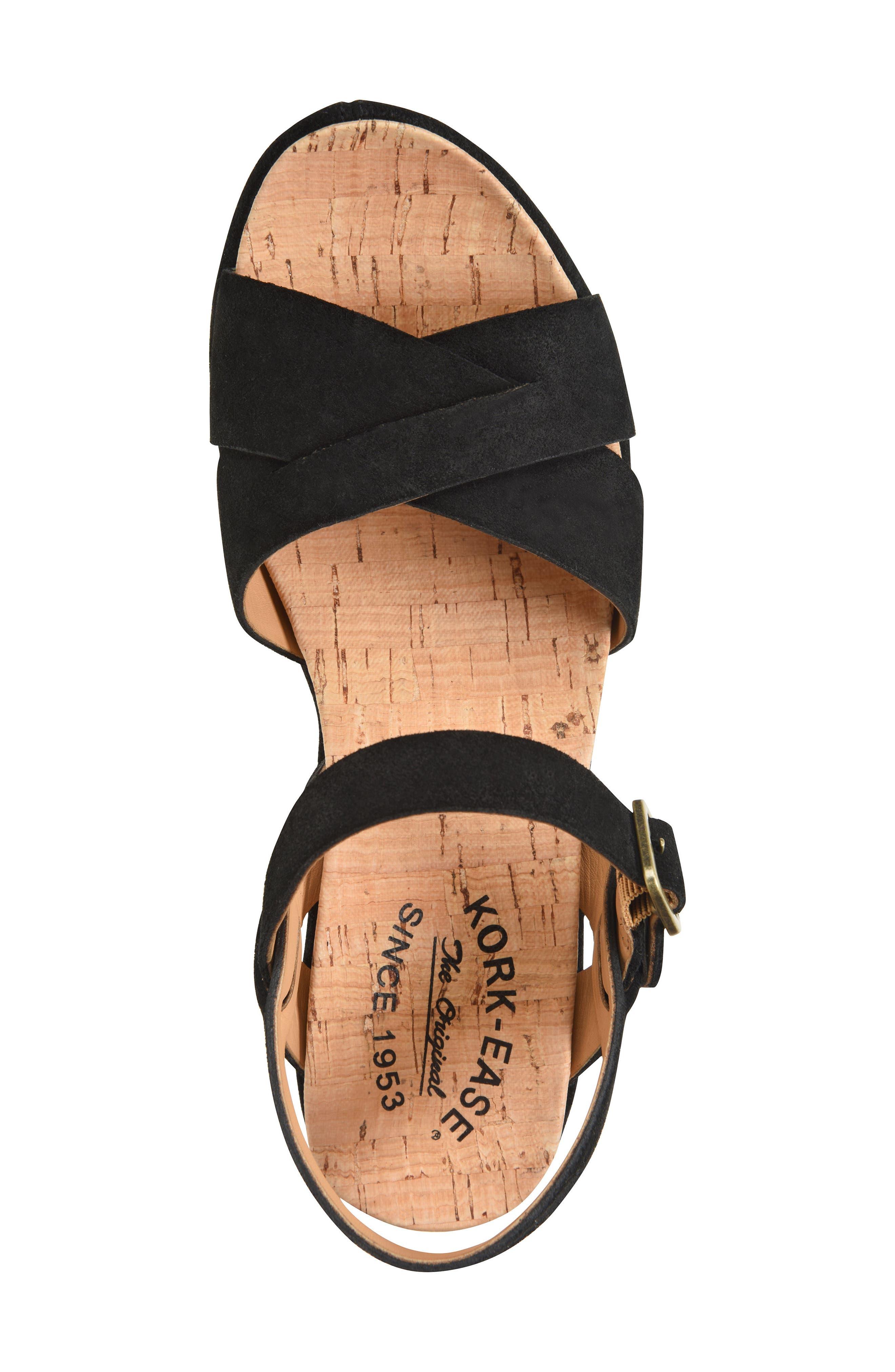 'Ava 2.0' Platform Wedge Sandal,                             Alternate thumbnail 5, color,                             BLACK SUEDE 2