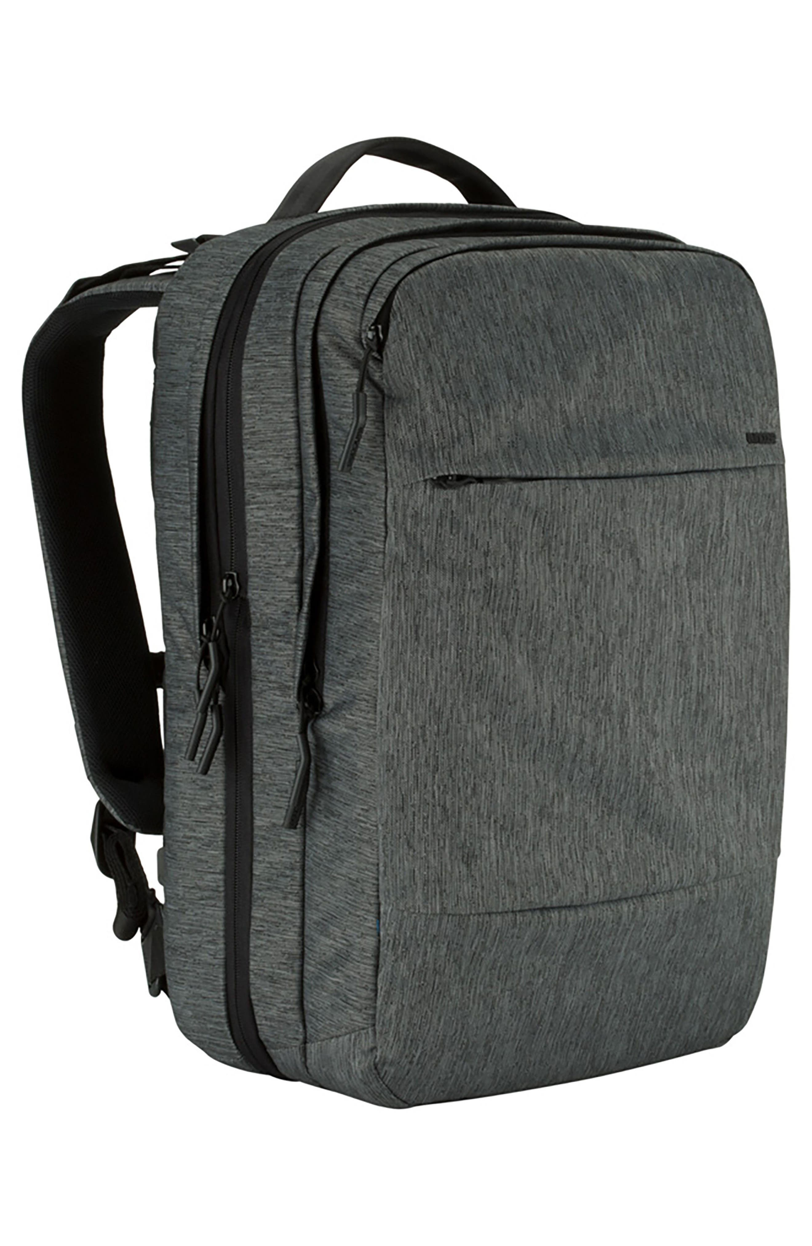 City Commuter Backpack,                             Alternate thumbnail 4, color,                             HEATHER BLACK