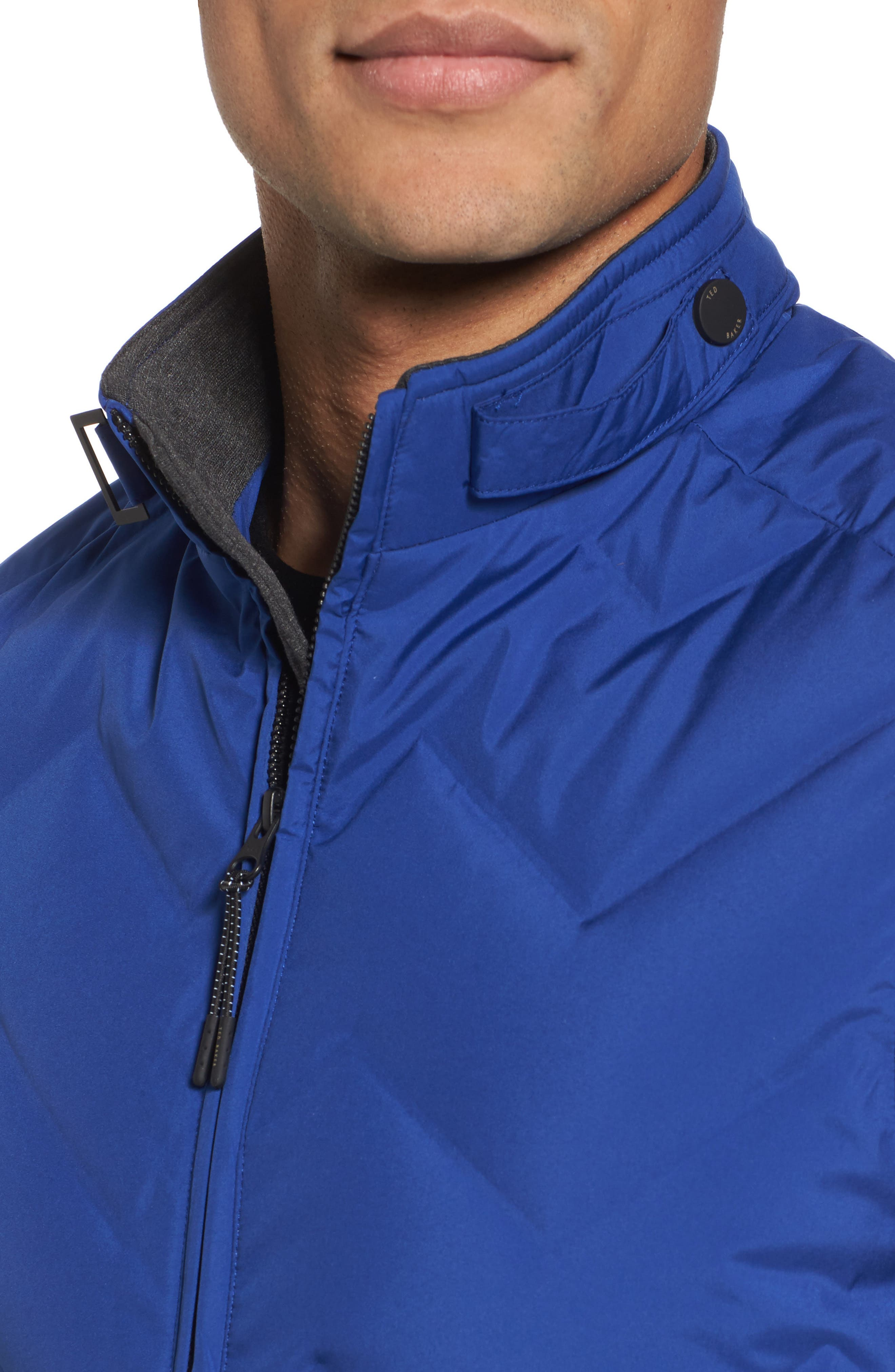 Hobart Down Vest,                             Alternate thumbnail 4, color,                             BRIGHT BLUE