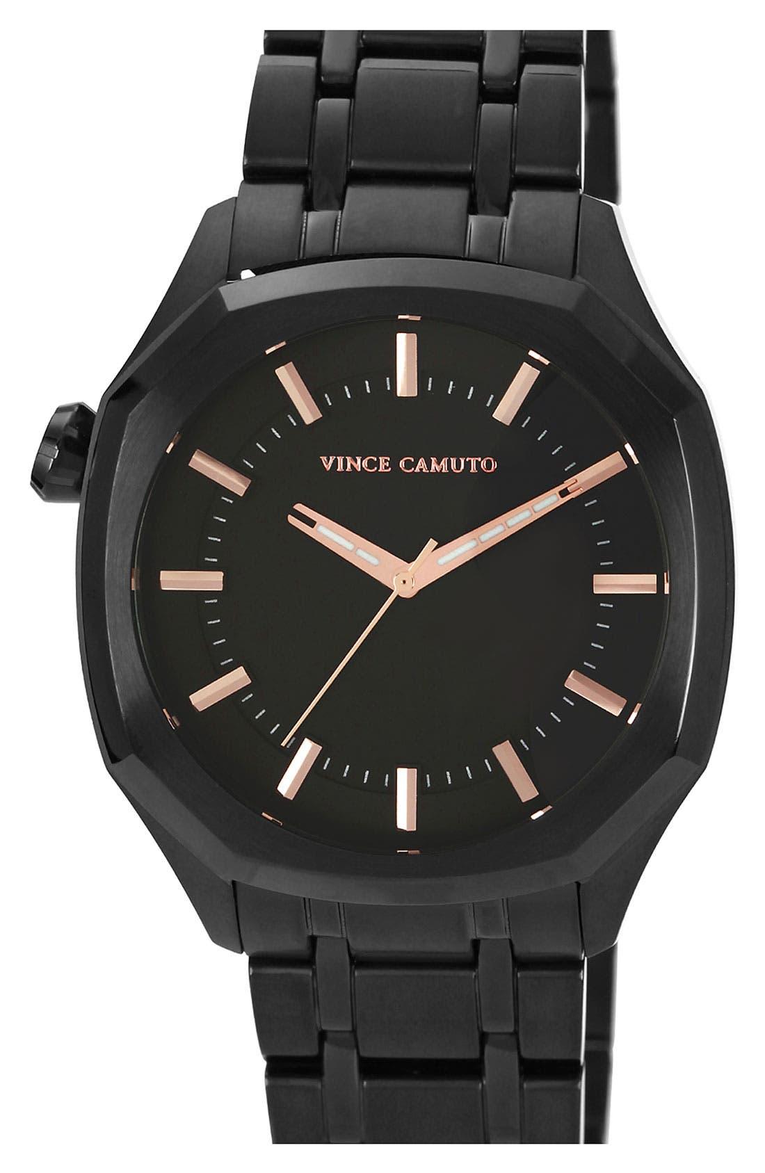 Octagonal Stick Index Bracelet Watch, 42mm,                             Main thumbnail 1, color,                             001