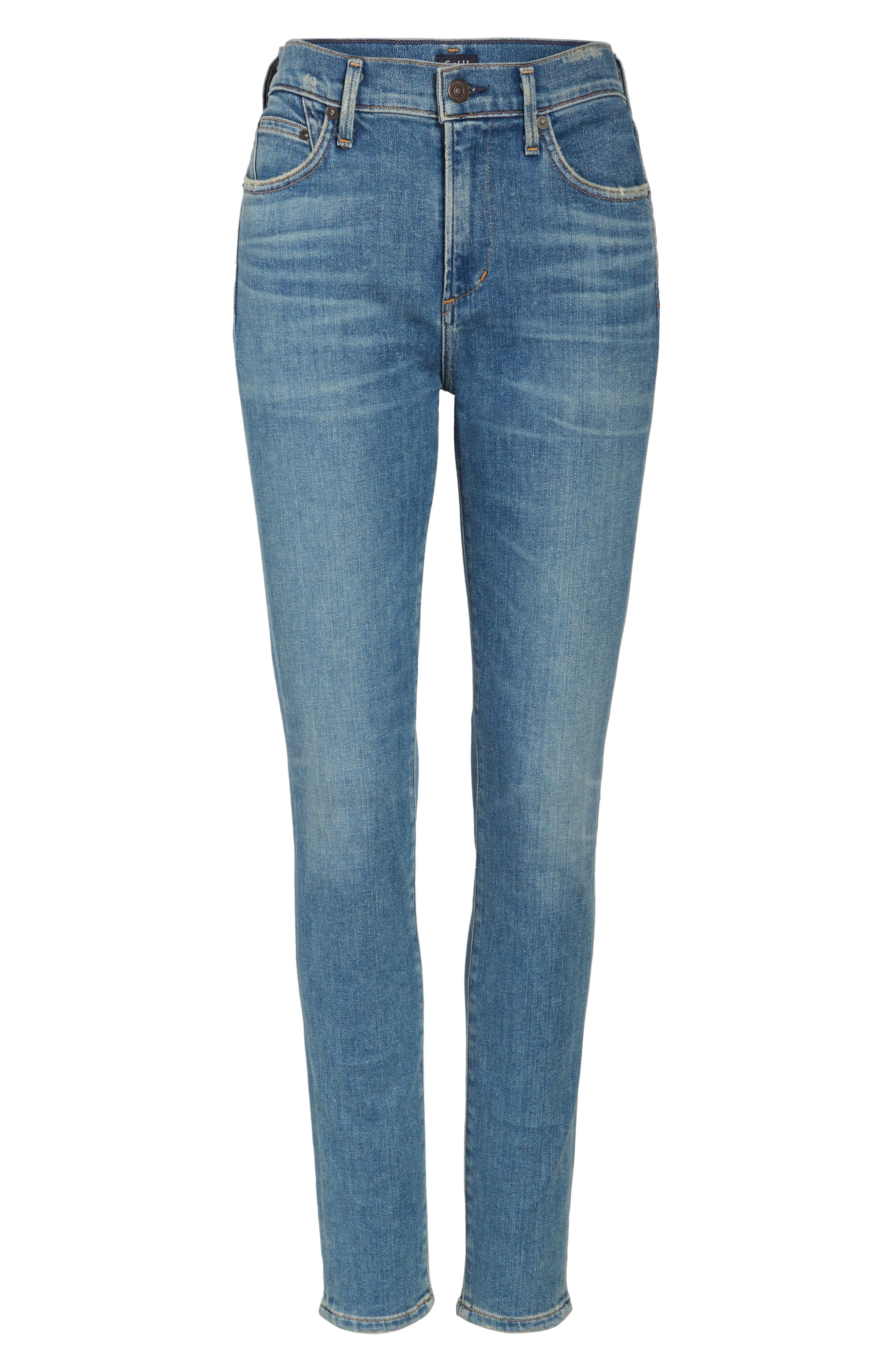 Rocket High Waist Skinny Jeans,                             Alternate thumbnail 6, color,