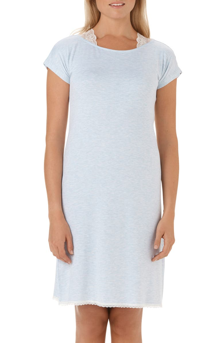 The White Company Lace Shoulder Nightgown | Nordstrom