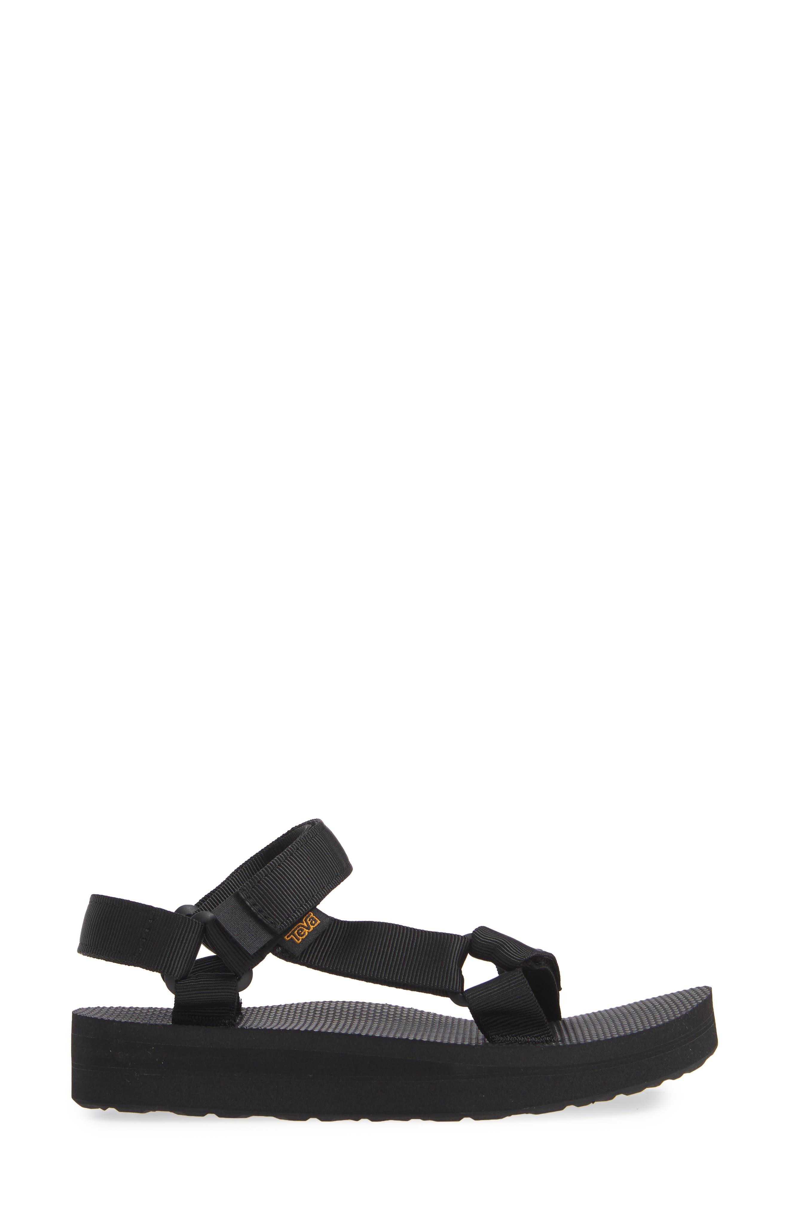 Midform Universal Geometric Sandal,                             Alternate thumbnail 3, color,                             BLACK FABRIC