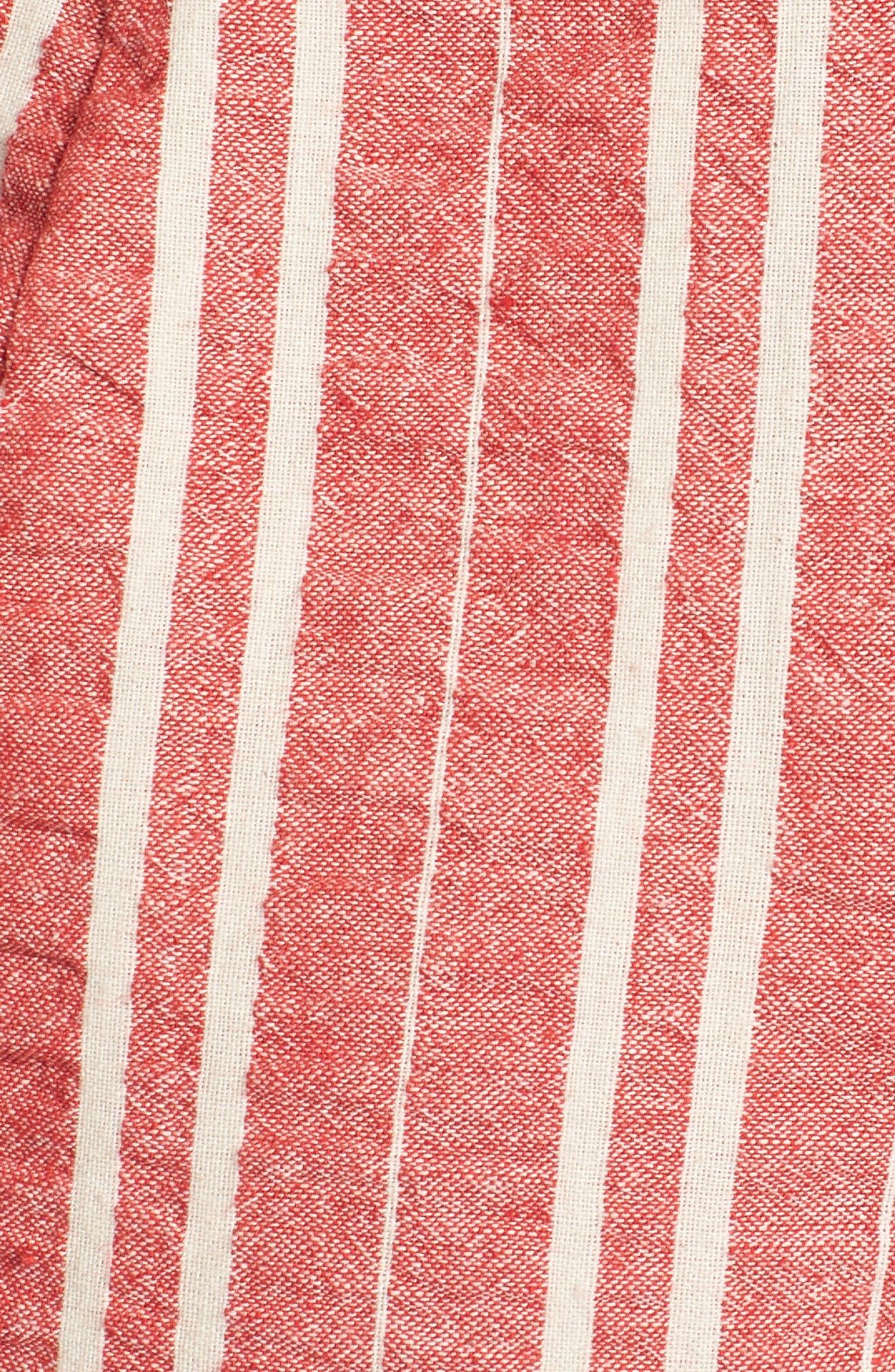Robin Stripe Crop Jumpsuit,                             Alternate thumbnail 5, color,                             641