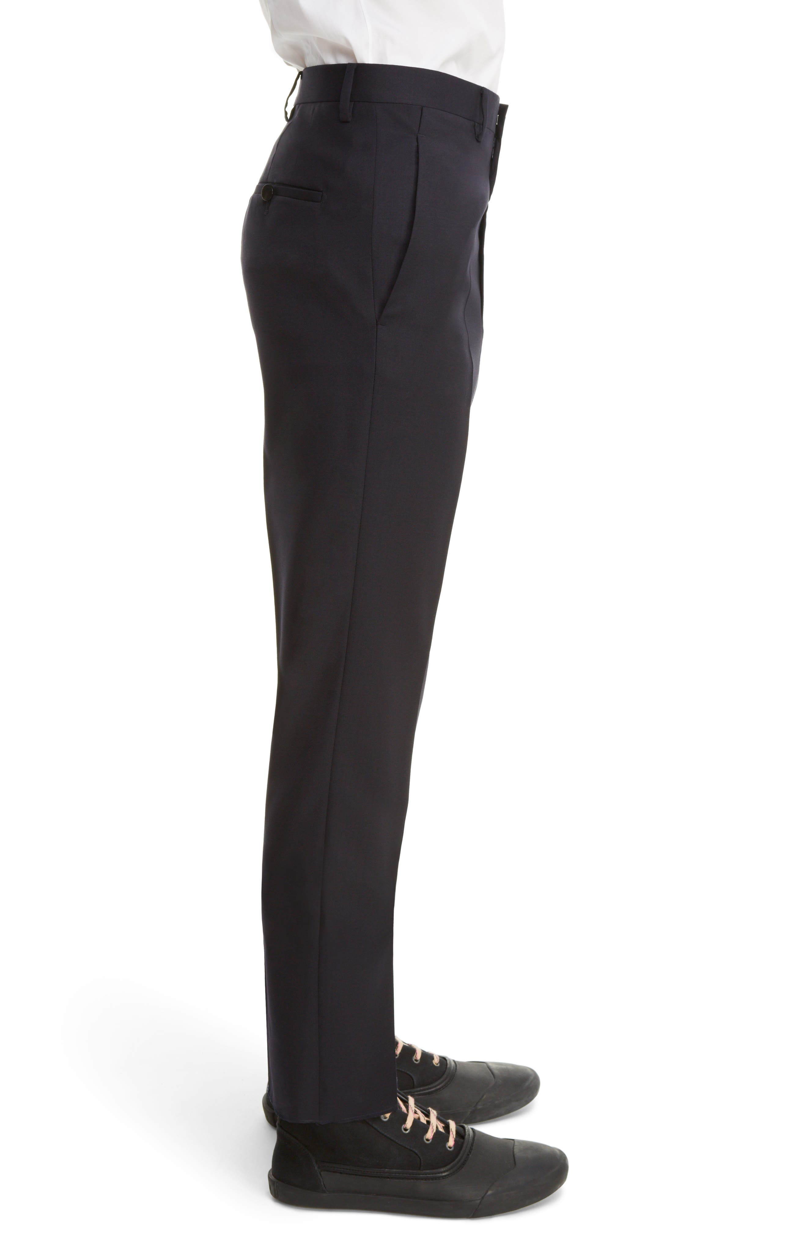 Tropical Wool Suit Trousers,                             Alternate thumbnail 6, color,