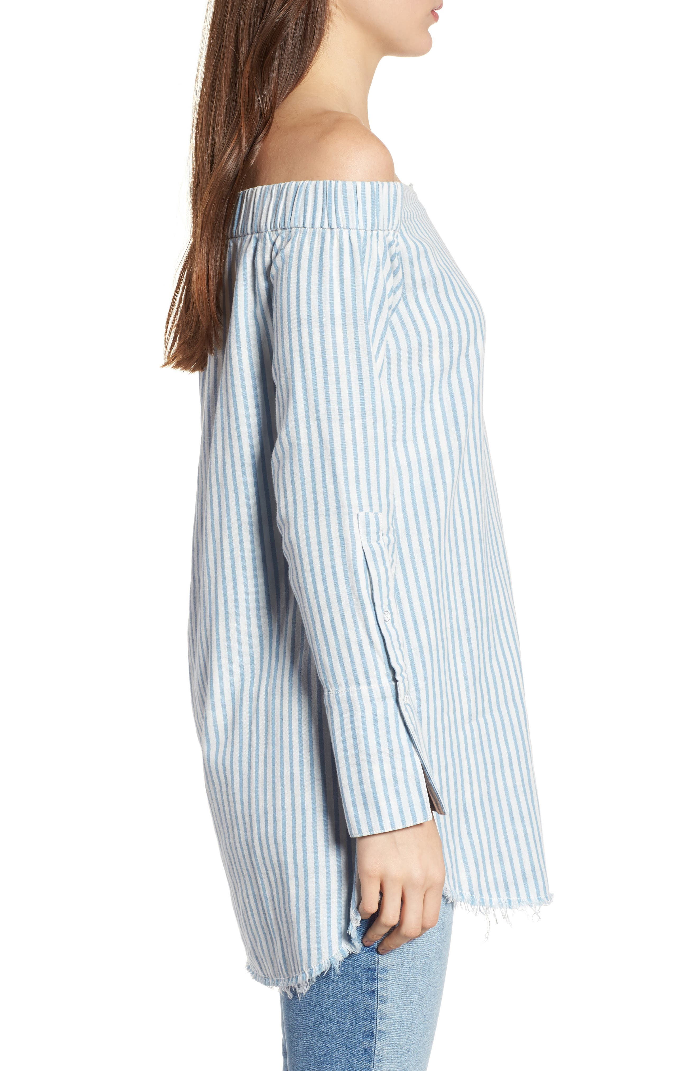Adelphi & Willoughby Off the Shoulder Shirt,                             Alternate thumbnail 3, color,                             430