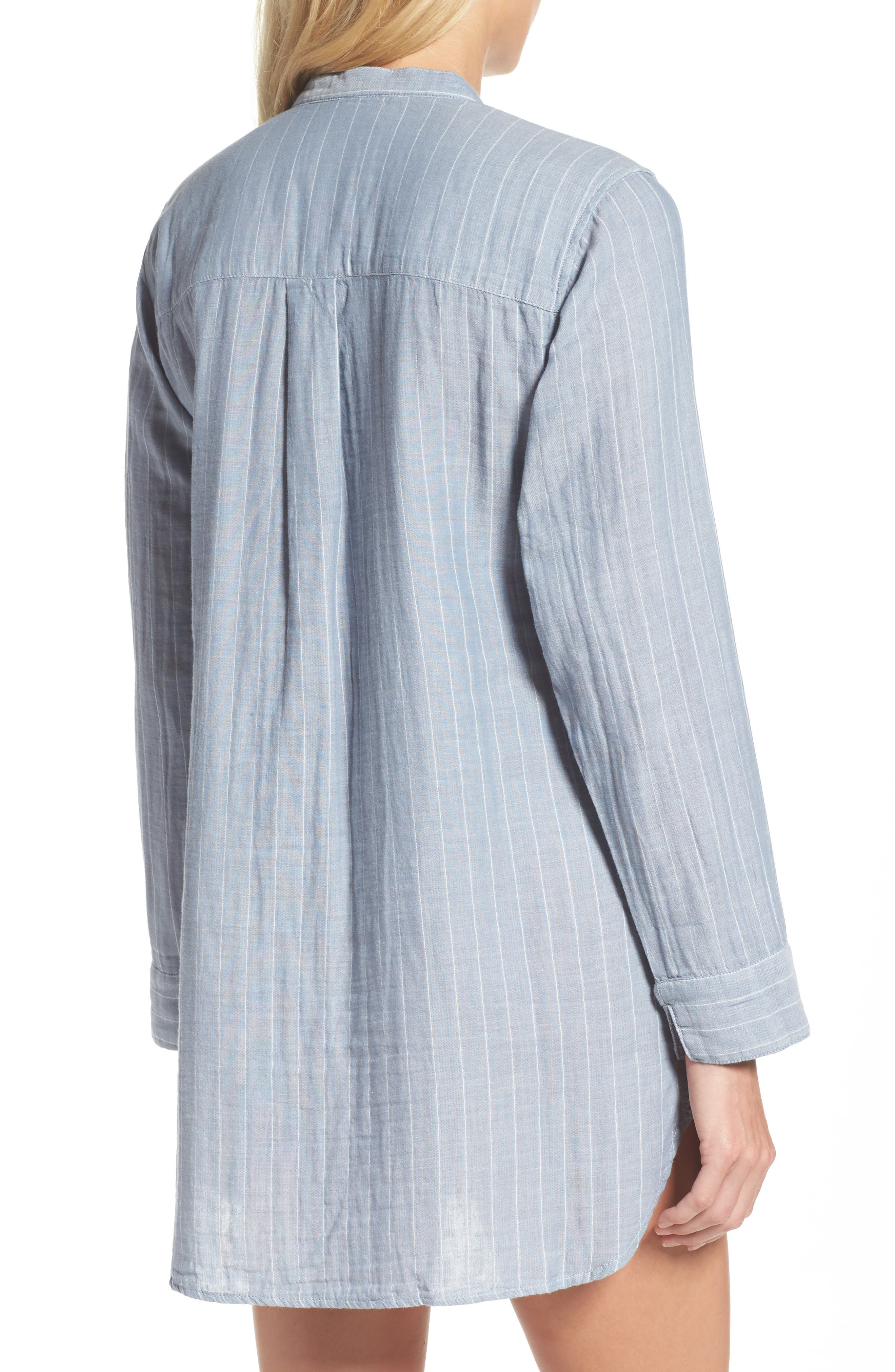 UGG Vivian Stripe Sleep Shirt,                             Alternate thumbnail 2, color,                             400