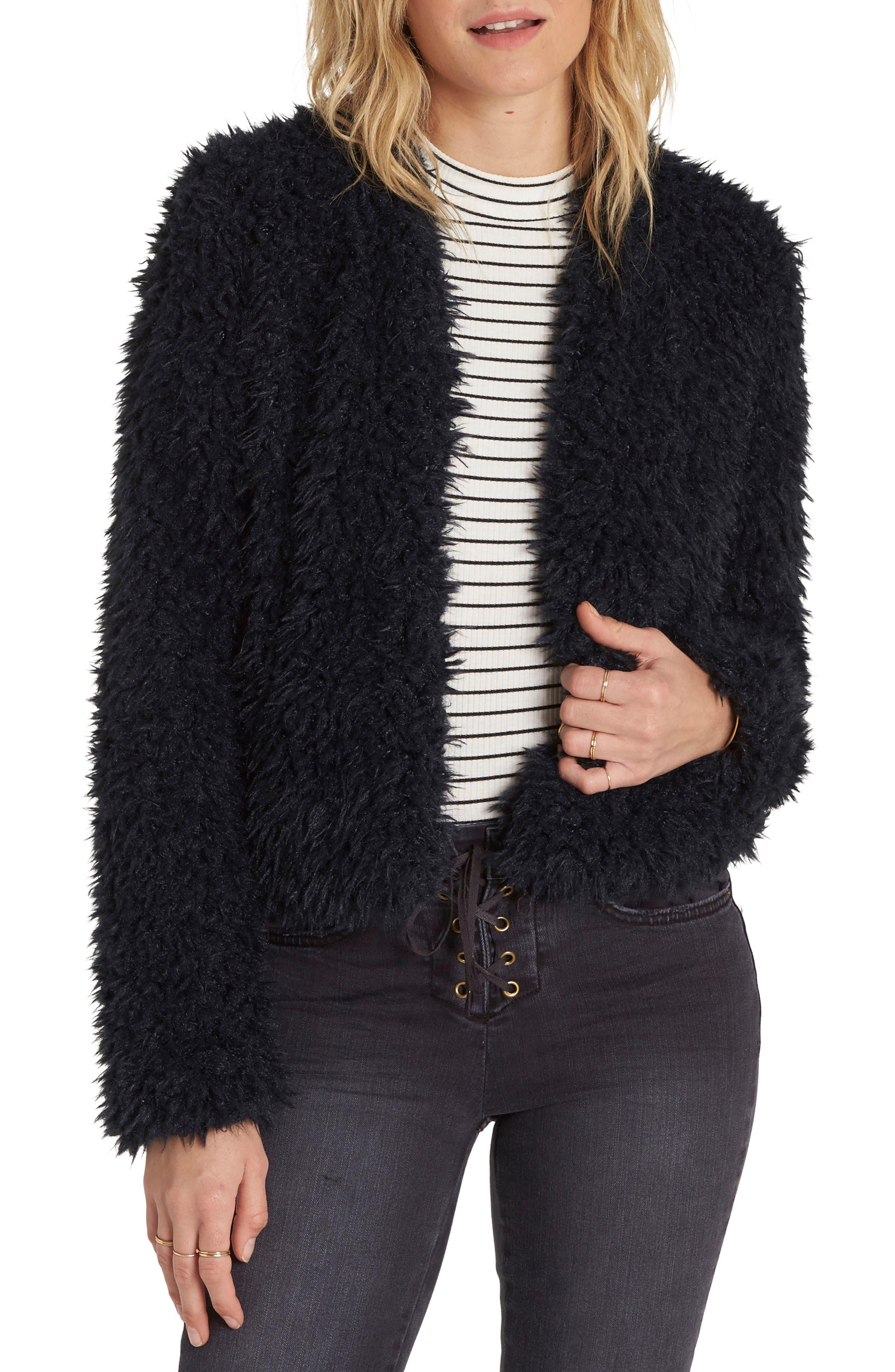 Keeps Faux Fur Jacket, Main, color, 015