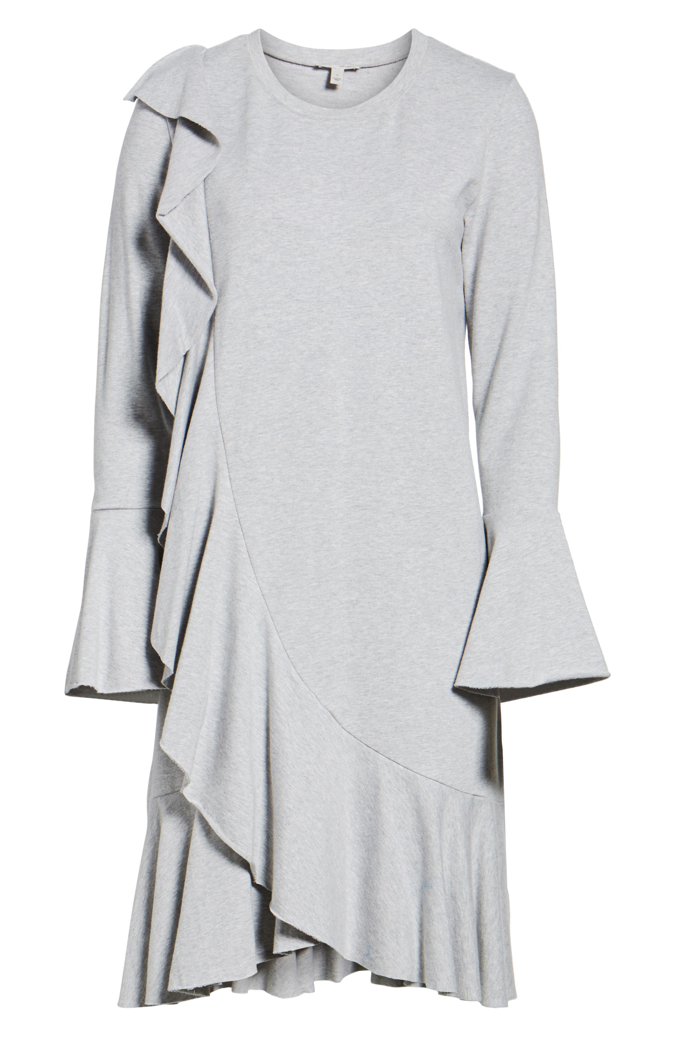 Ruffle Detail Knit Dress,                             Alternate thumbnail 19, color,