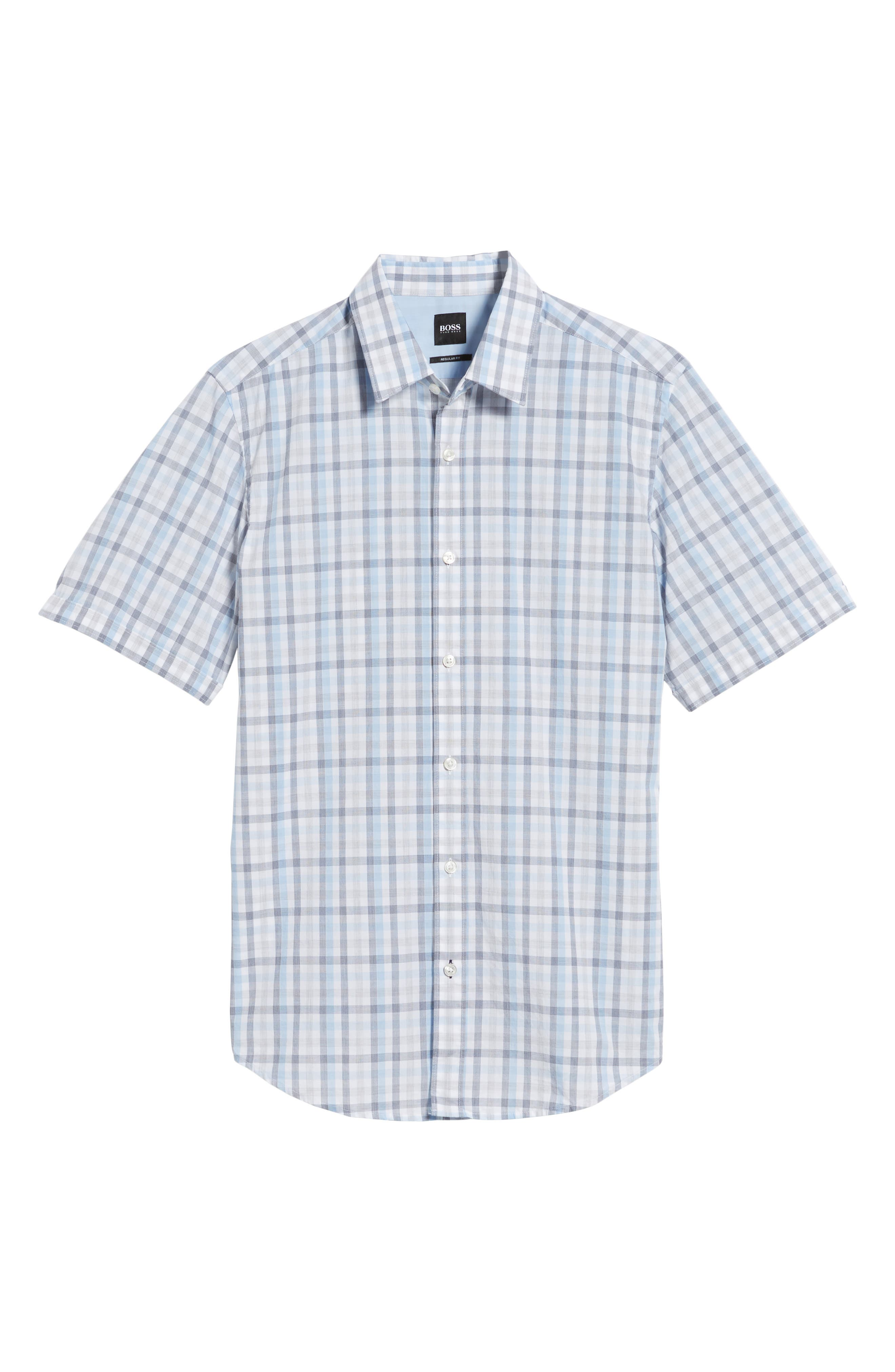 Luka Slim Fit Short Sleeve Sport Shirt,                             Alternate thumbnail 6, color,